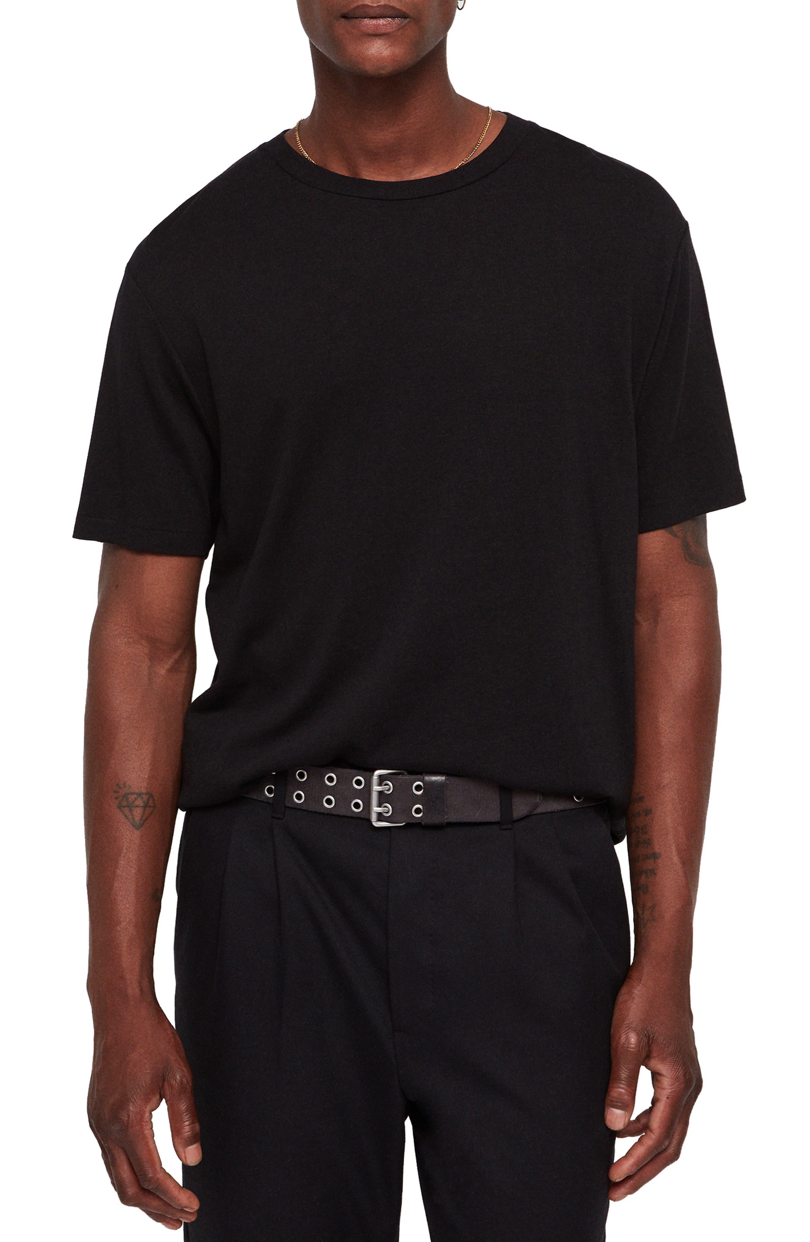 Satum Longline T-Shirt,                             Main thumbnail 1, color,                             JET BLACK