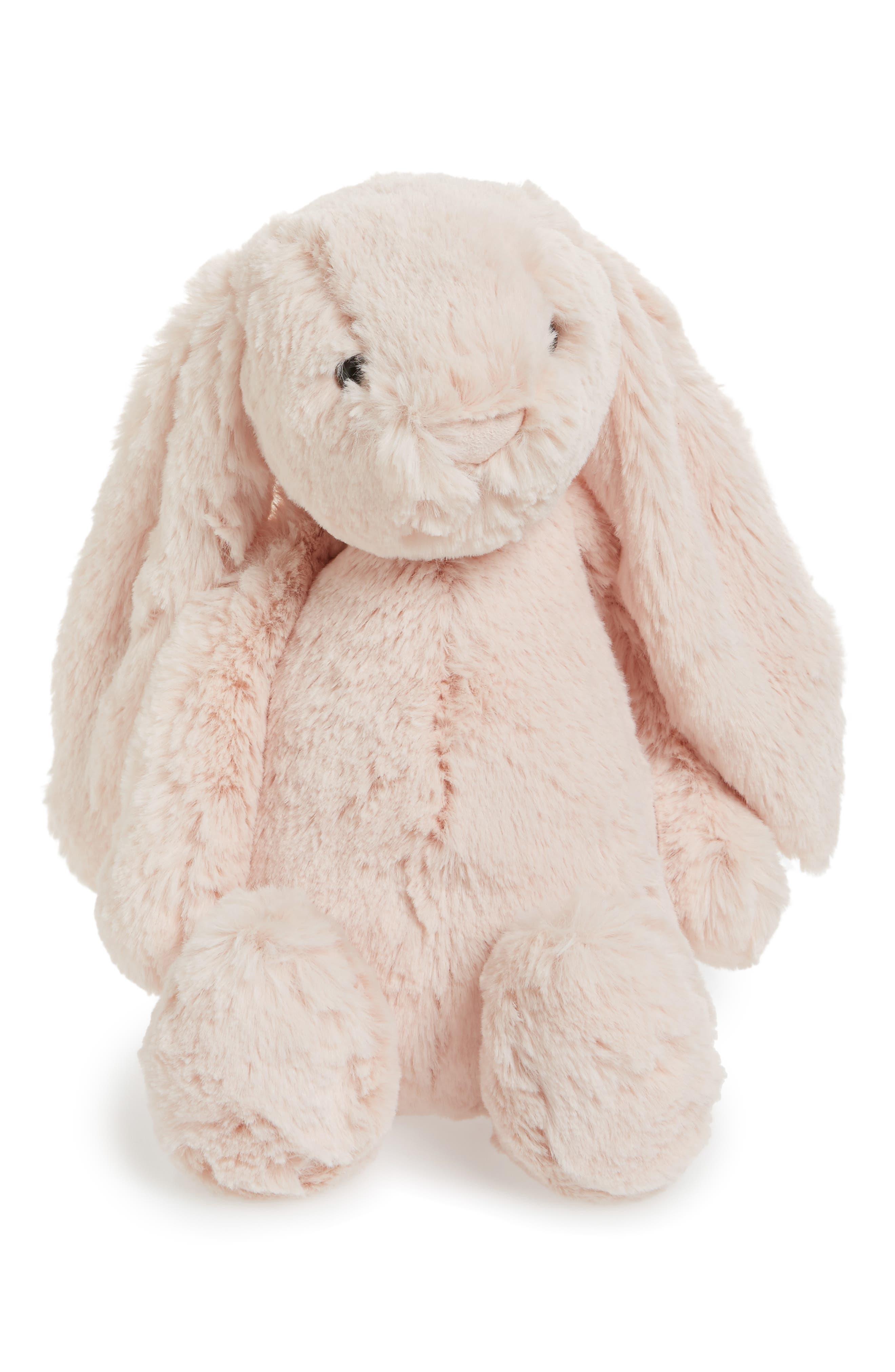 JELLYCAT,                             Bashful Bunny Blush Stuffed Animal,                             Main thumbnail 1, color,                             BLUSH