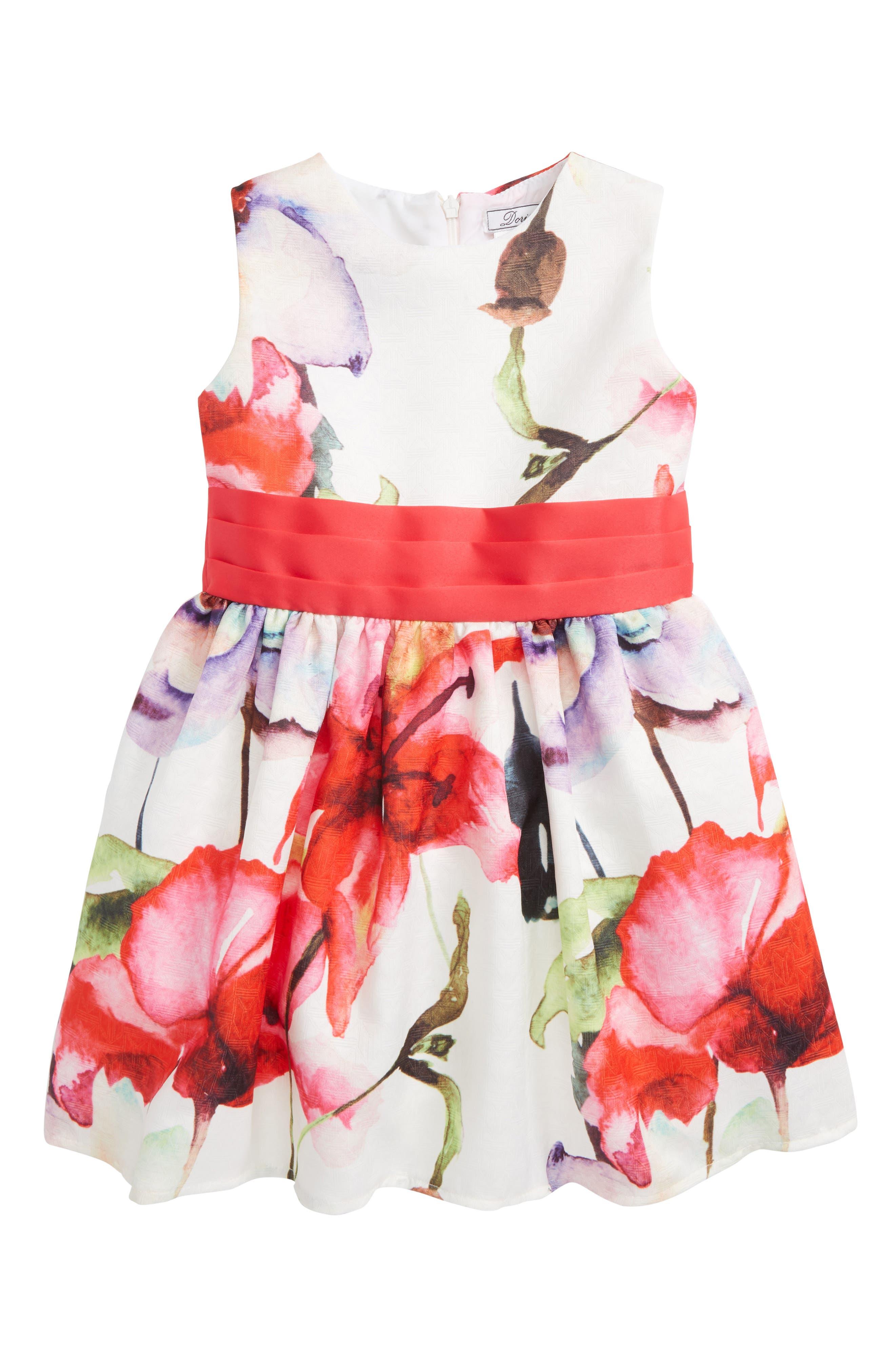 Laura Flower Party Dress,                             Main thumbnail 1, color,                             650