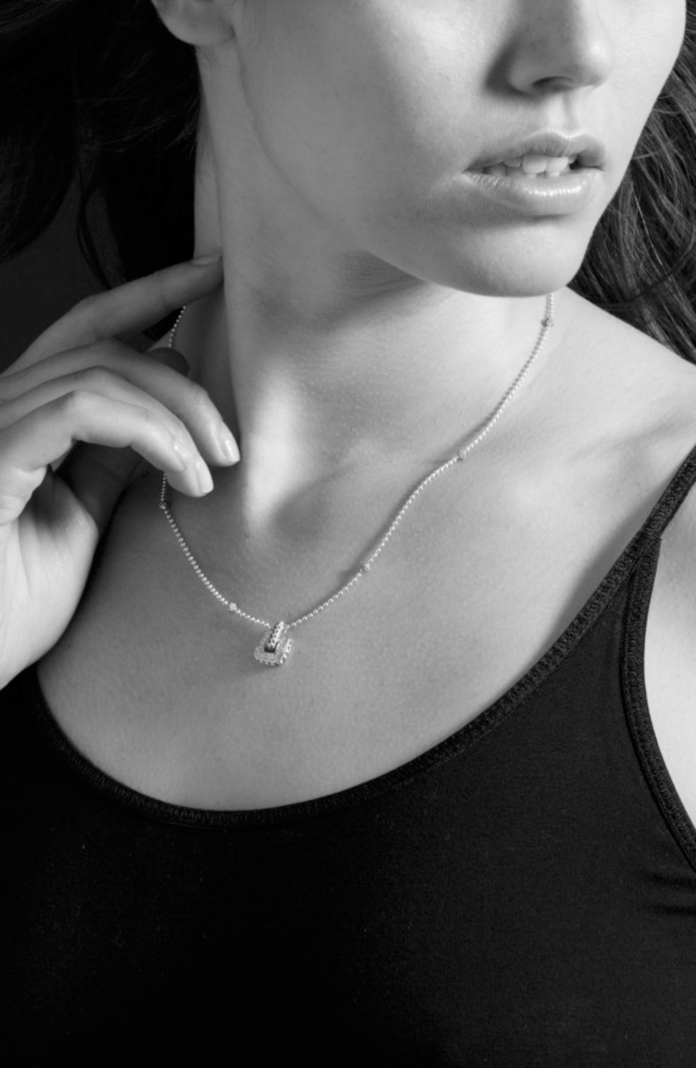 'Cushion' Small Pendant Necklace,                             Alternate thumbnail 2, color,                             040