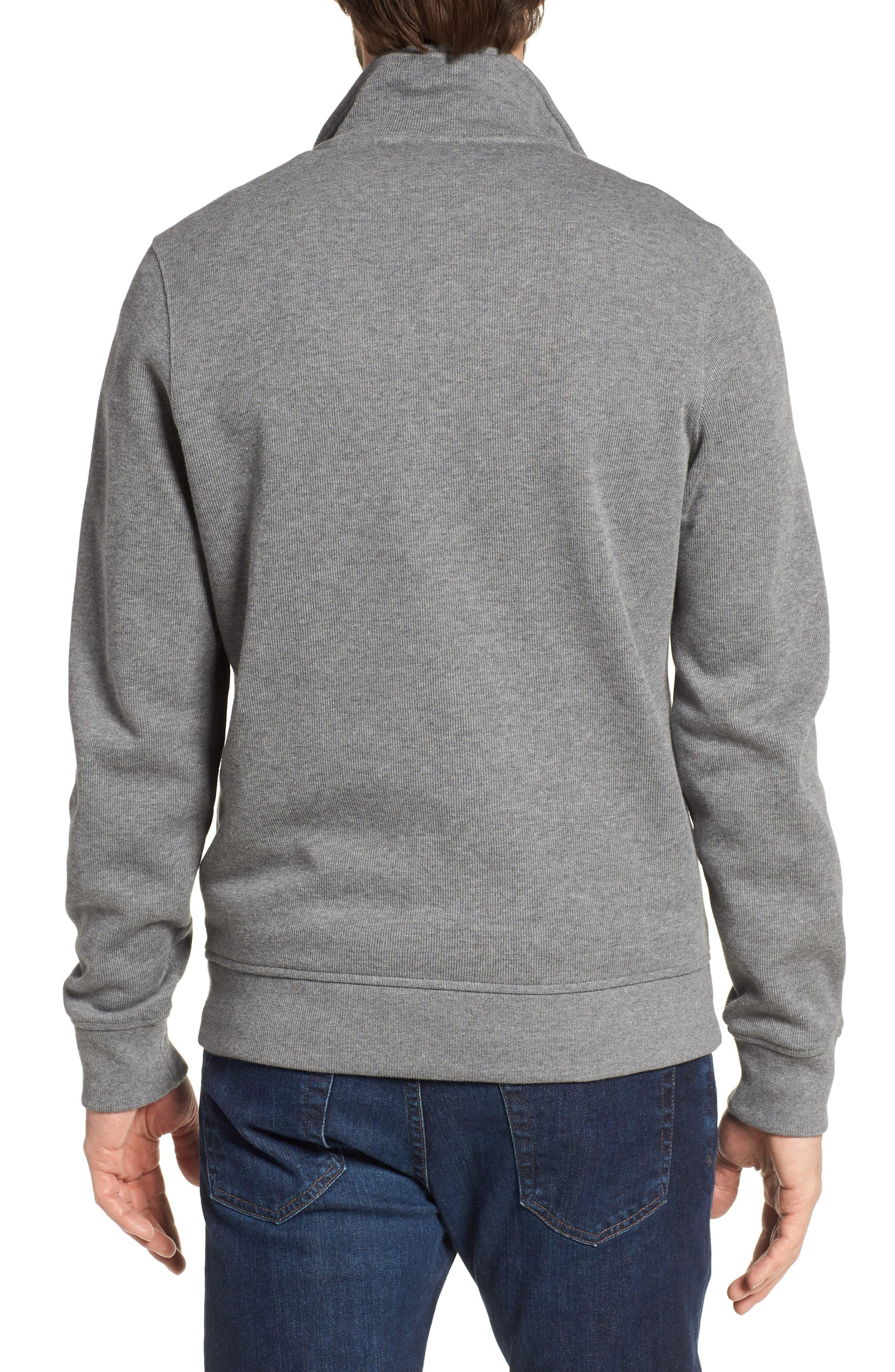 Quarter Zip Cotton Interlock Sweatshirt,                             Alternate thumbnail 2, color,                             GALAXITE CHINE/ NIMBUS