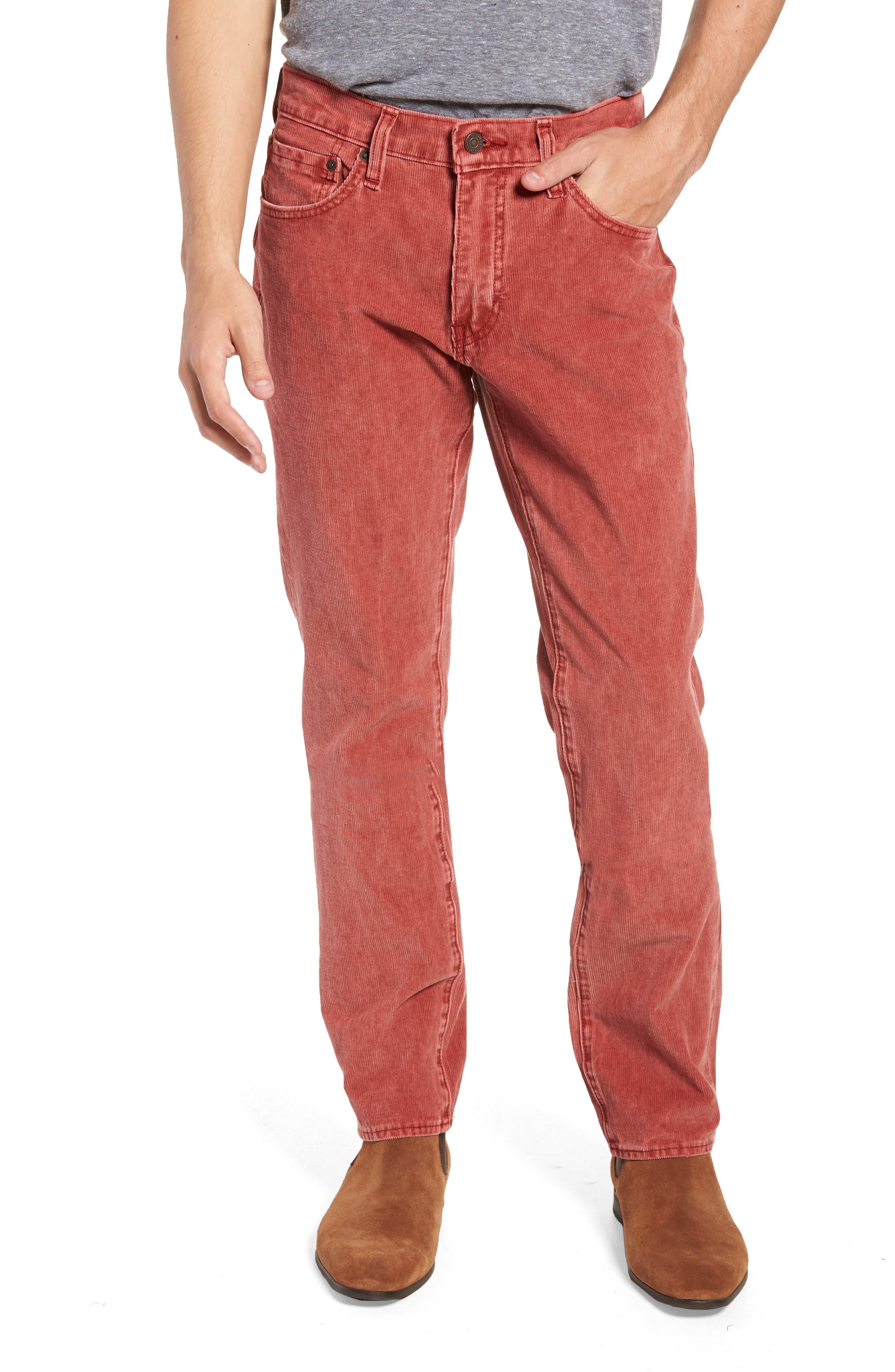 511<sup>™</sup> Slim Fit Corduroy Pants,                         Main,                         color, RALLY RED