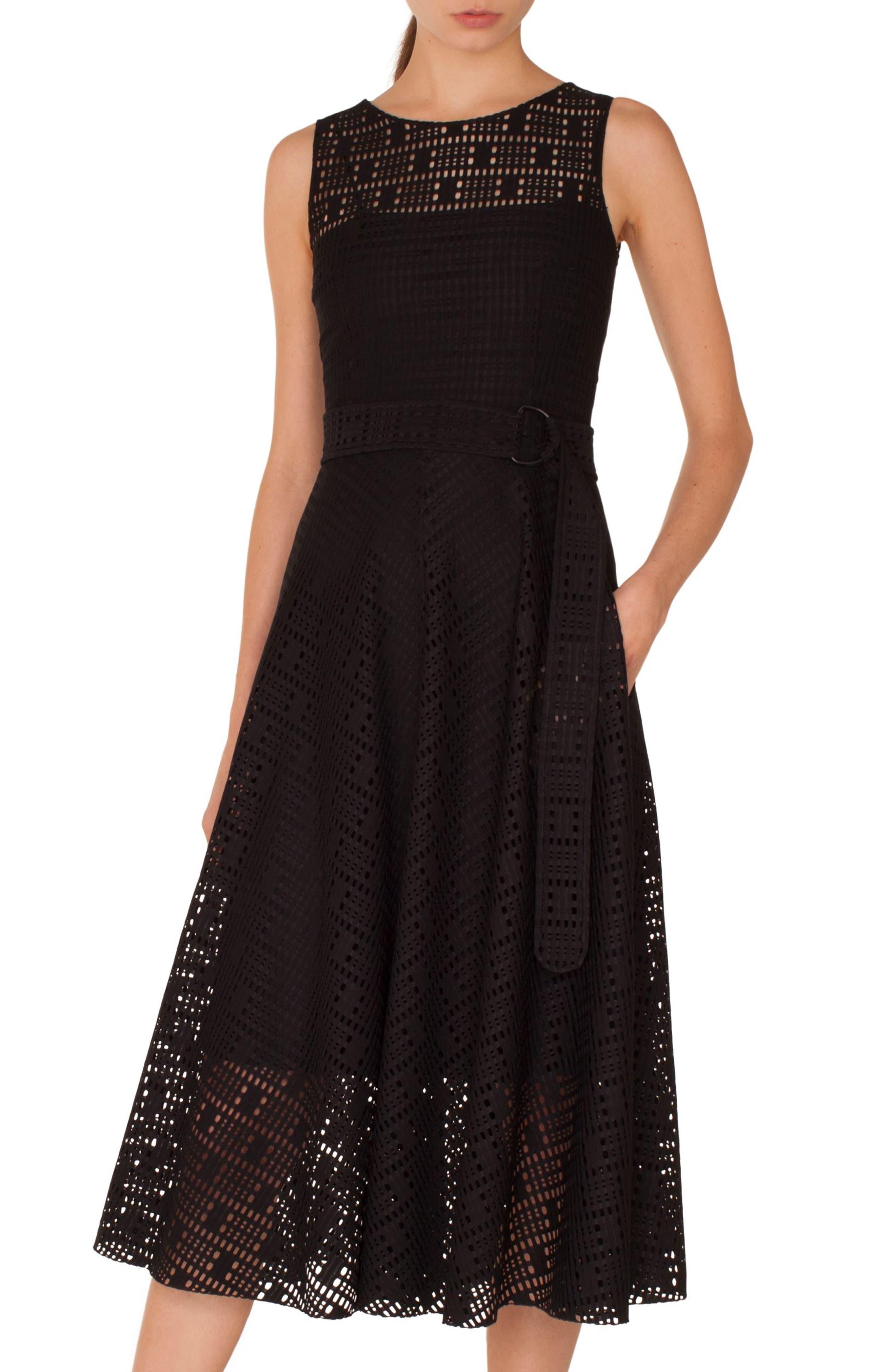 Lace Fit & Flare Dress,                         Main,                         color, 009