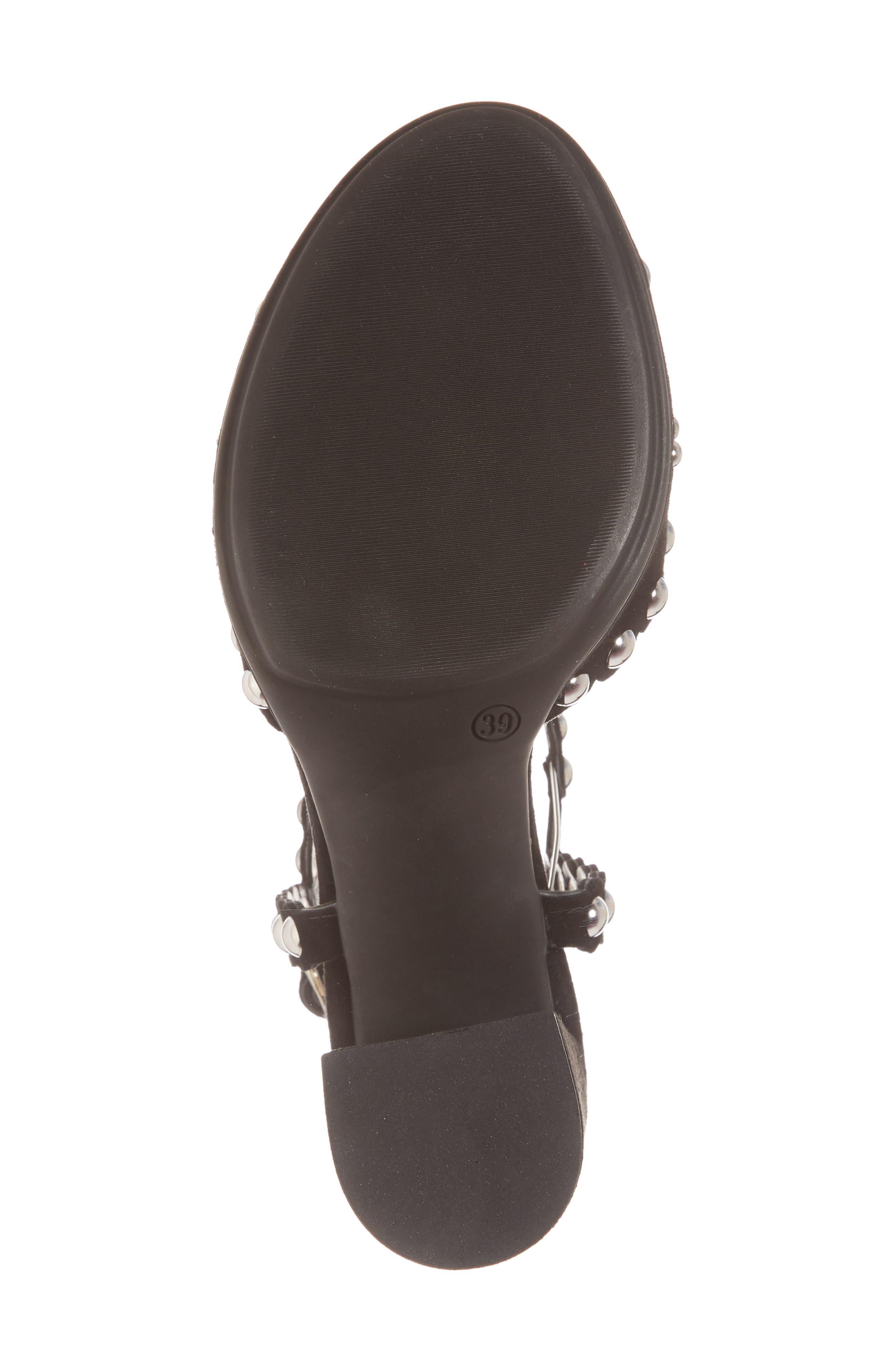 Butter Hetty Studded Ankle Strap Sandal,                             Alternate thumbnail 6, color,                             001