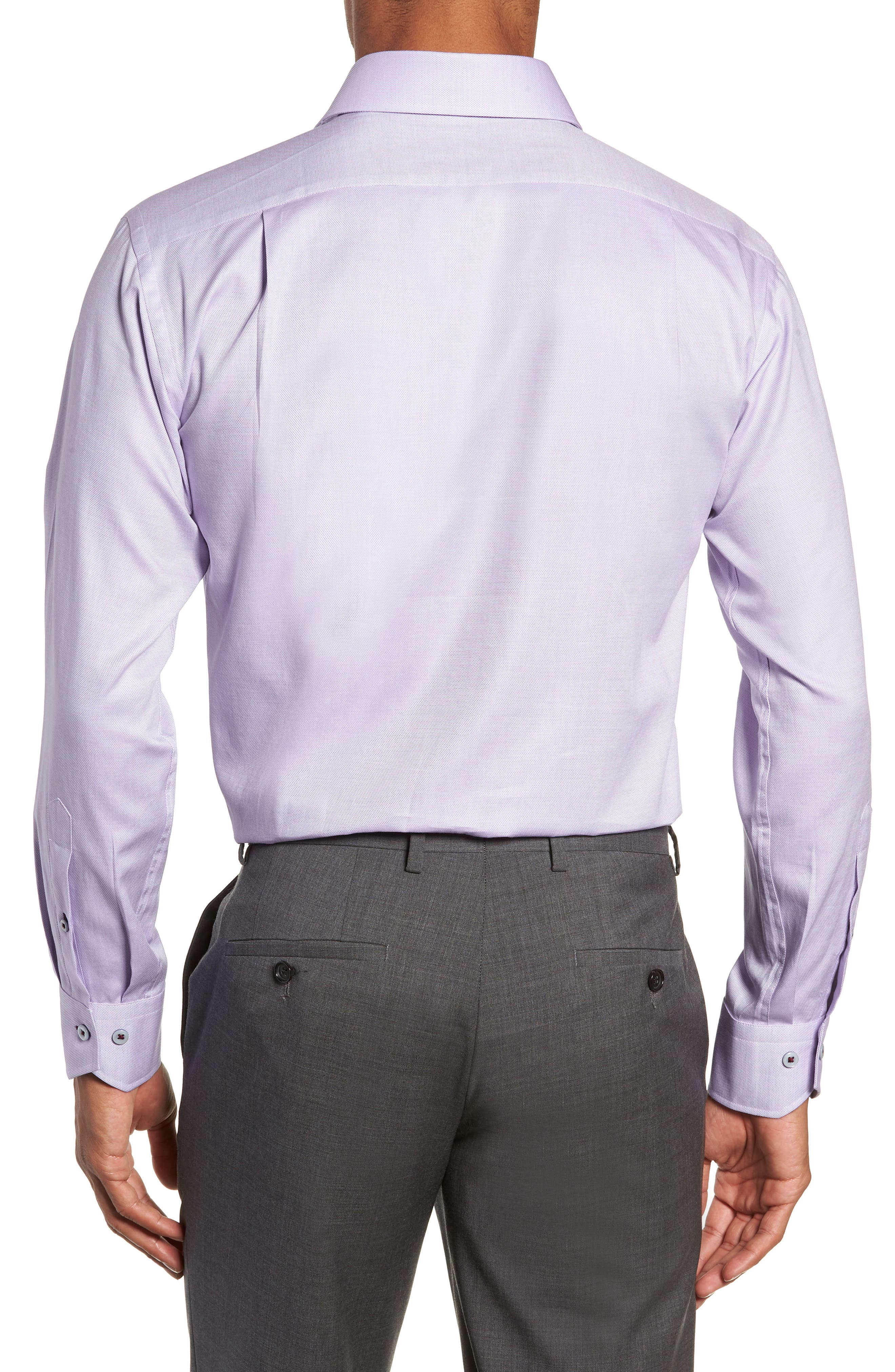 Trim Fit Solid Dress Shirt,                             Alternate thumbnail 3, color,                             530