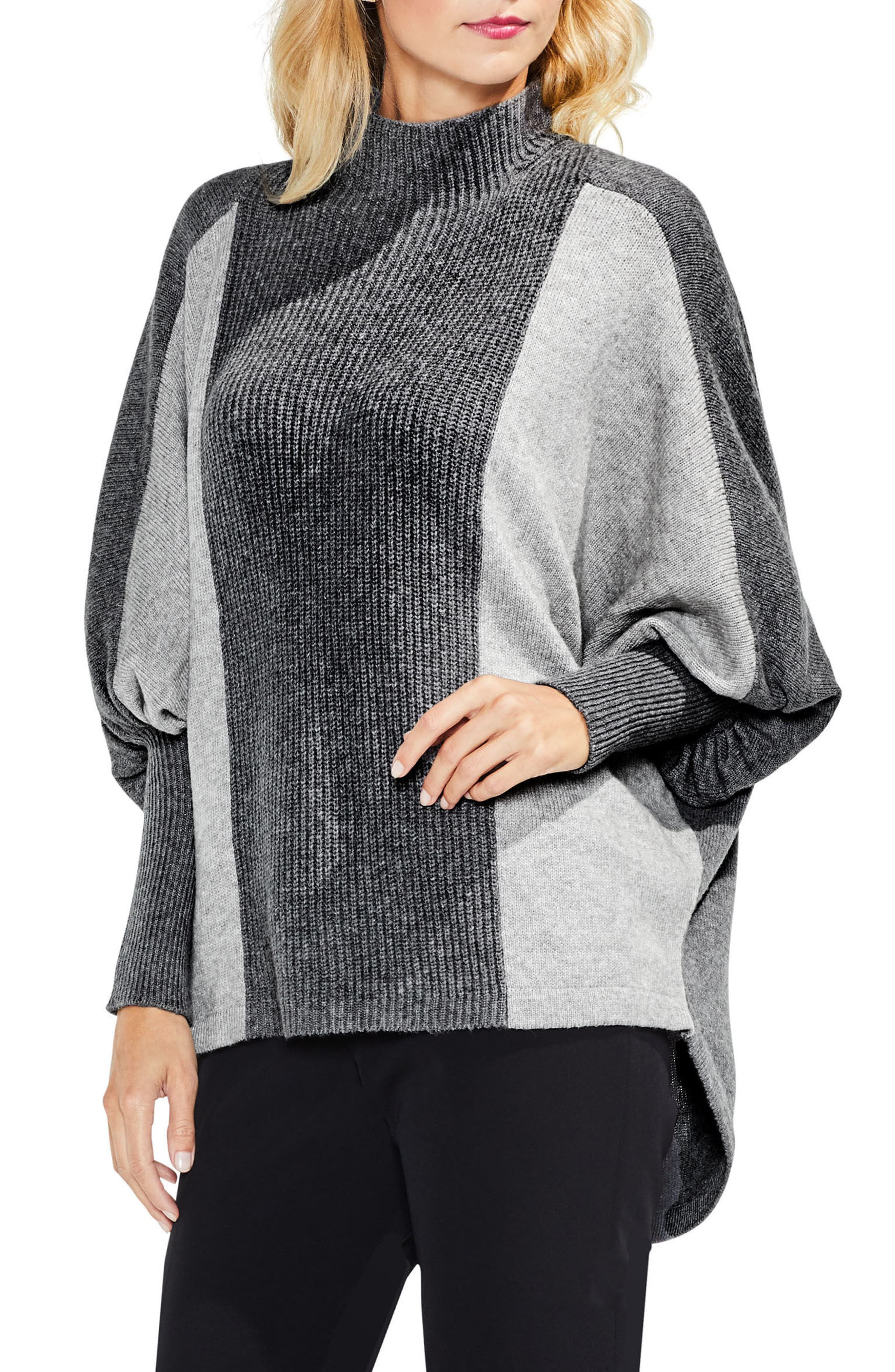 Dolman Sleeve Colorblock Sweater,                             Main thumbnail 1, color,