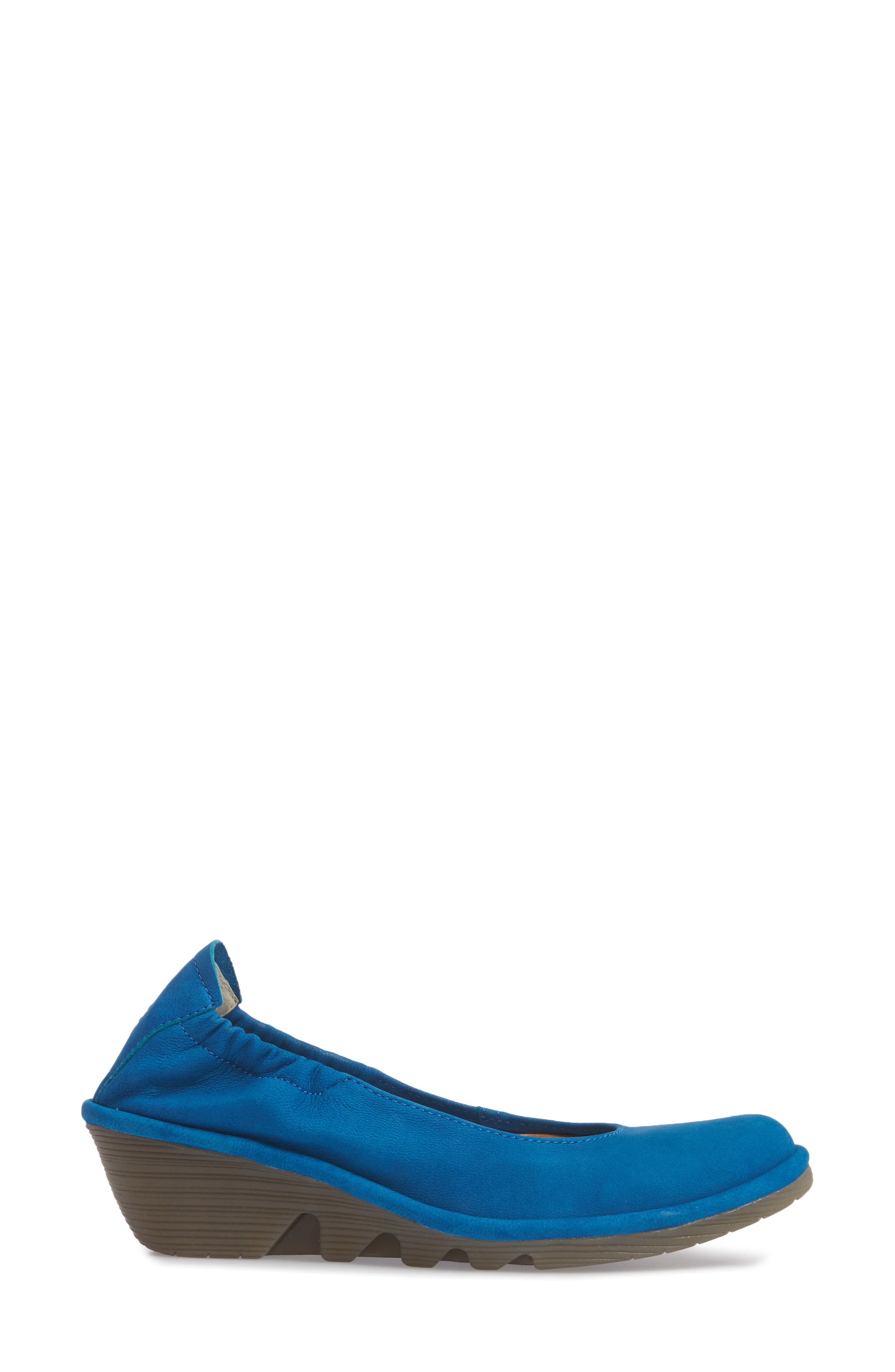 Pled Wedge,                             Alternate thumbnail 3, color,                             ELECTRIC BLUE CUPIDO LEATHER