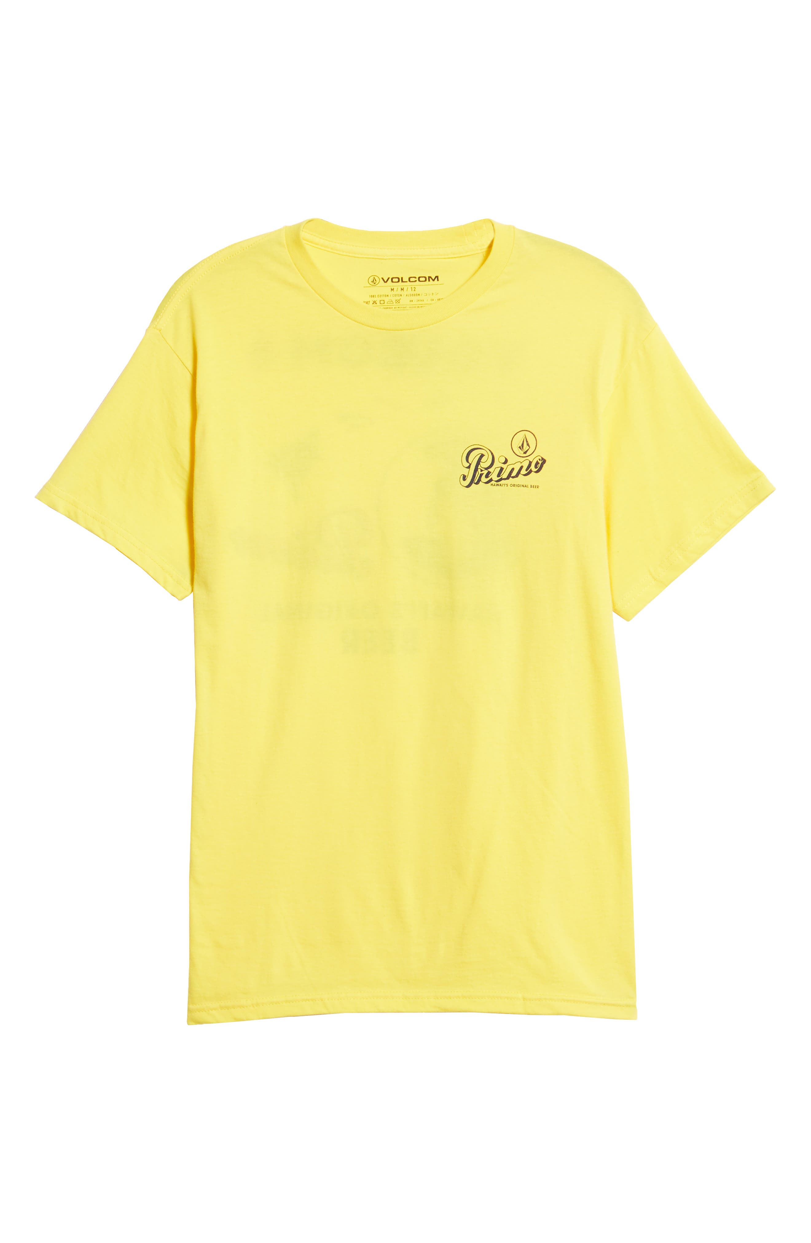 Primo Island T-Shirt,                             Alternate thumbnail 6, color,                             CYBER YELLOW