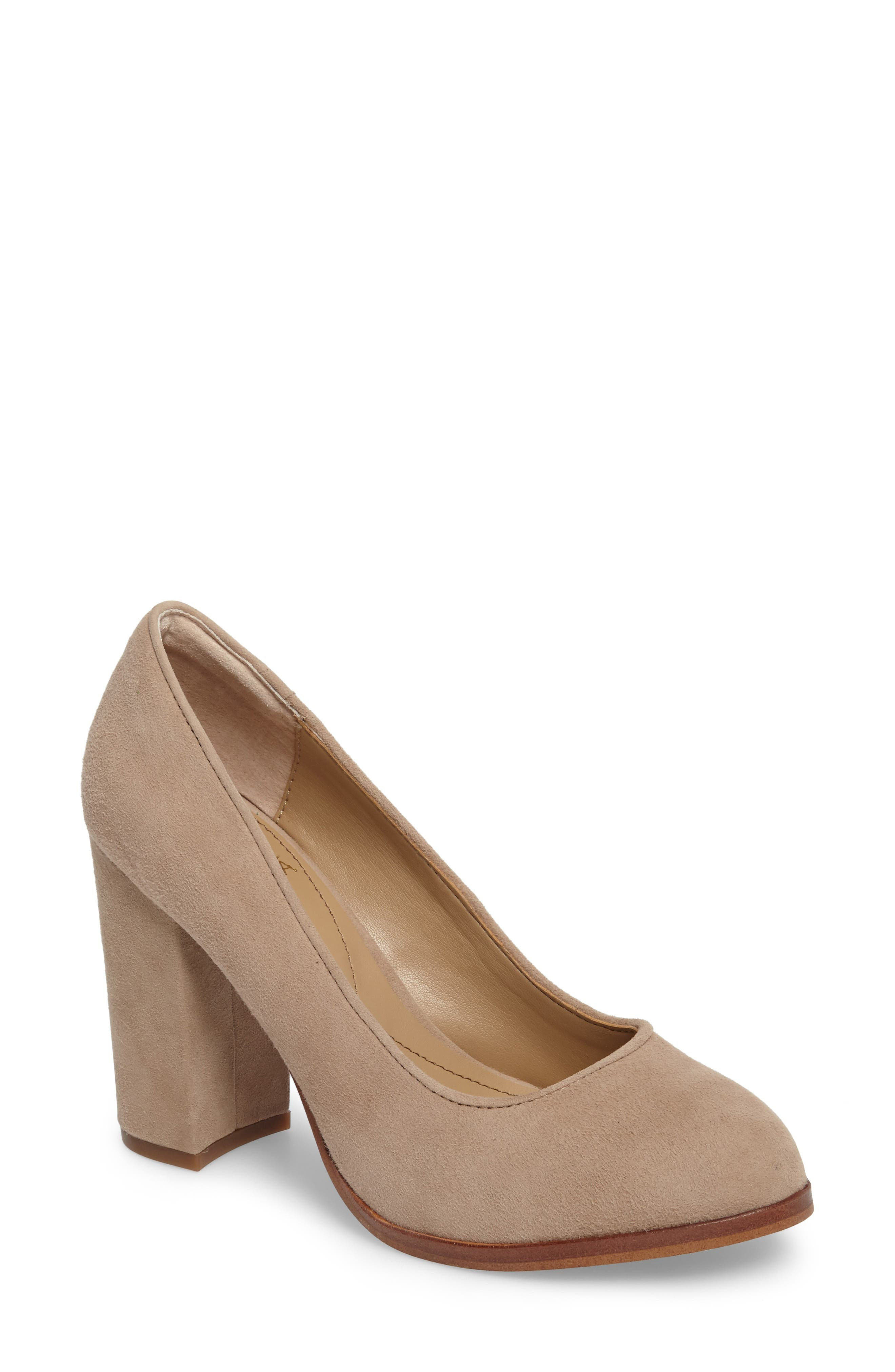 Hayley Pump,                             Main thumbnail 1, color,                             BAYWATER SUEDE
