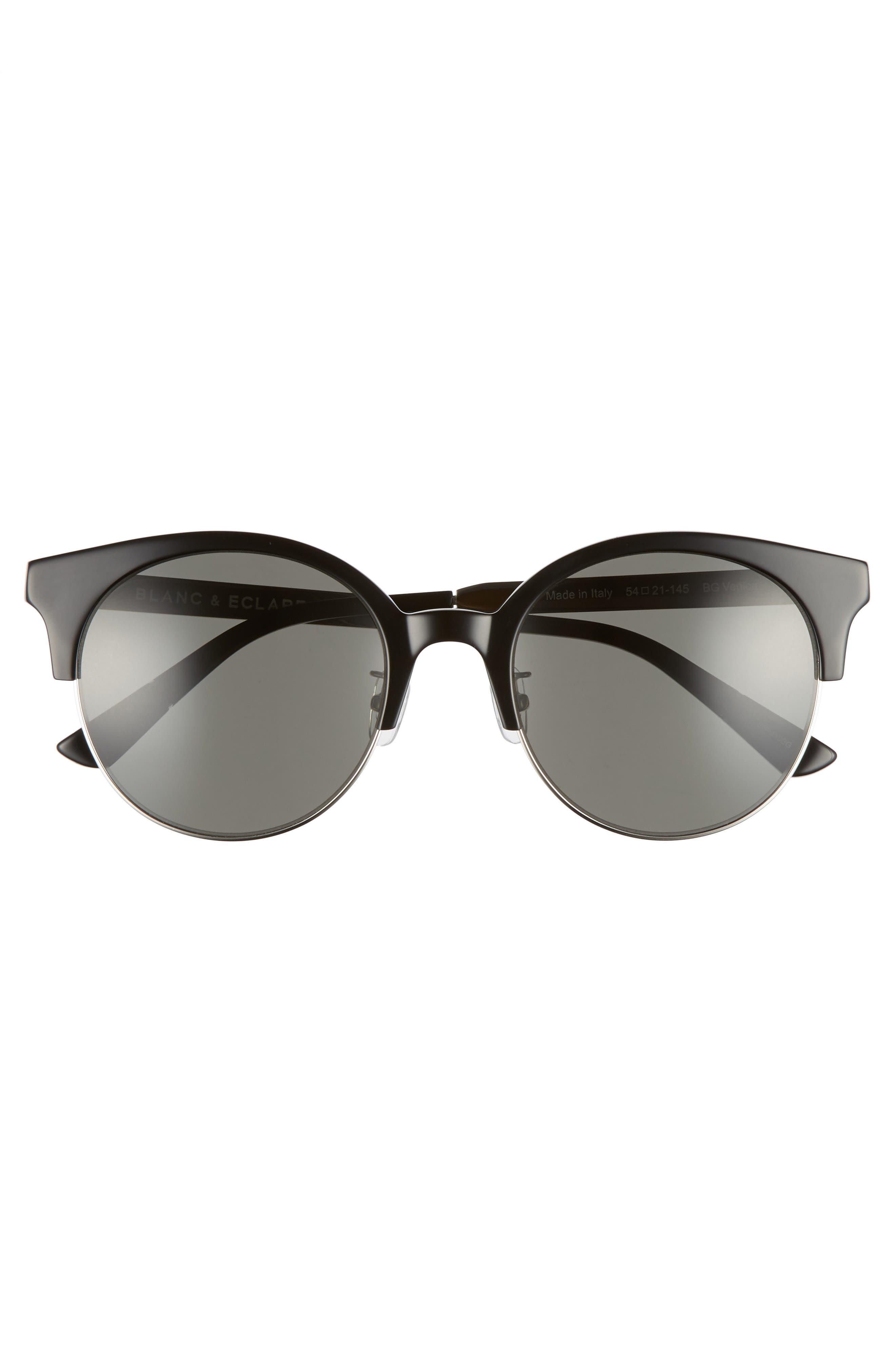 BLANC & ECLARE Venice Round Sunglasses,                             Alternate thumbnail 3, color,                             001
