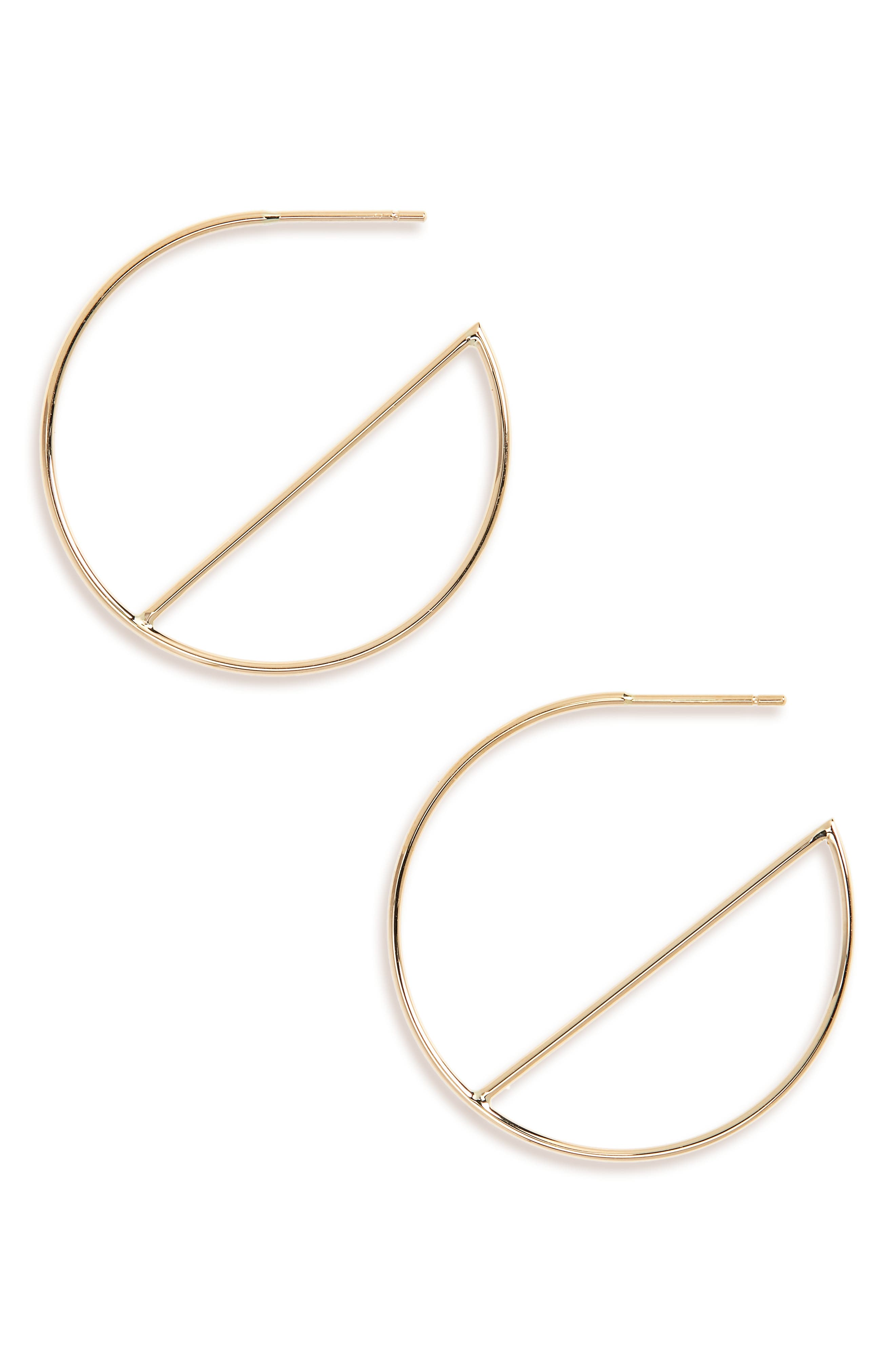 LANA JEWELRY,                             Wire Eclipse Hoops,                             Main thumbnail 1, color,                             710