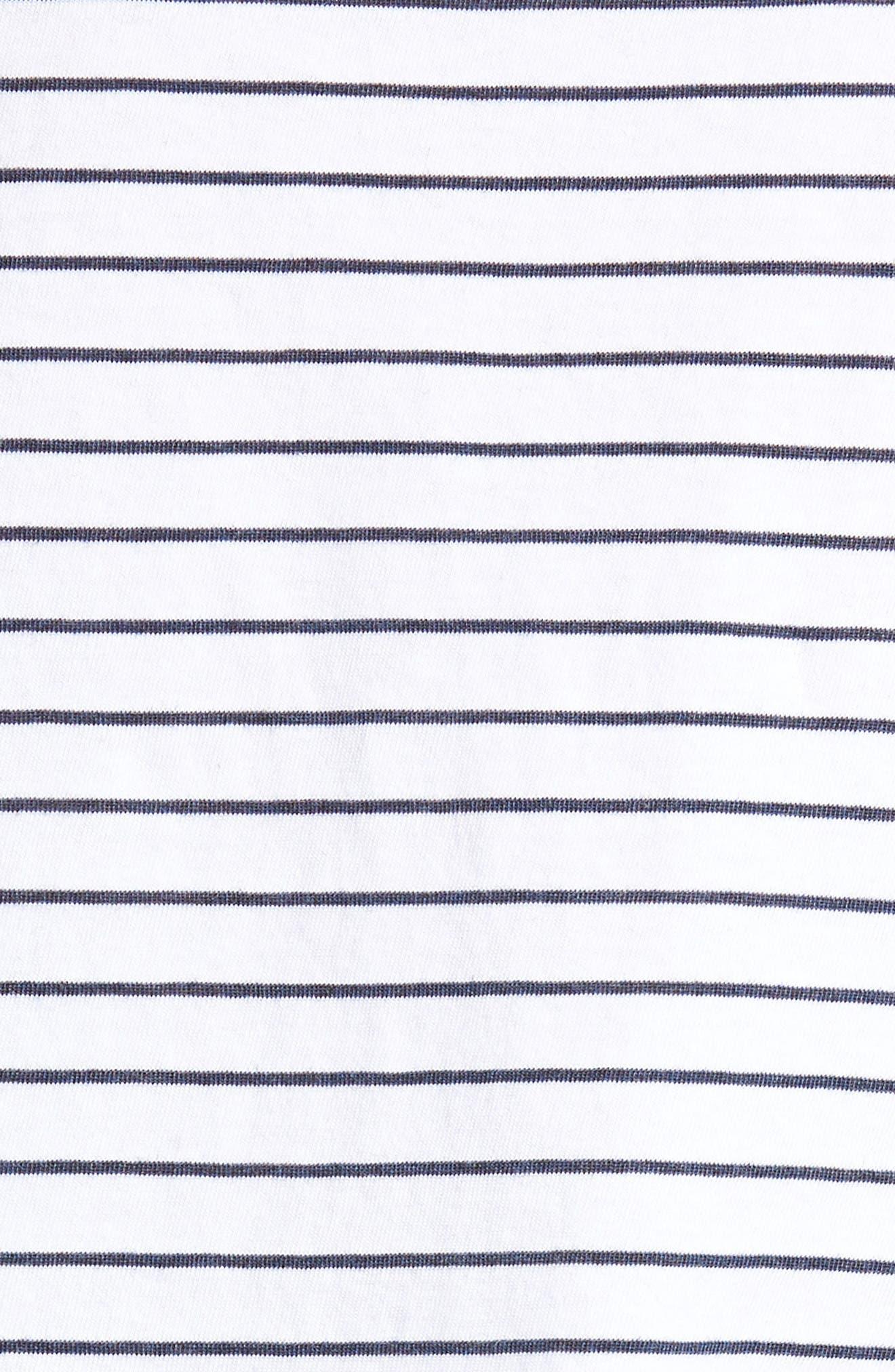 Stripe Ruffle Sleeve Tee,                             Alternate thumbnail 6, color,                             100