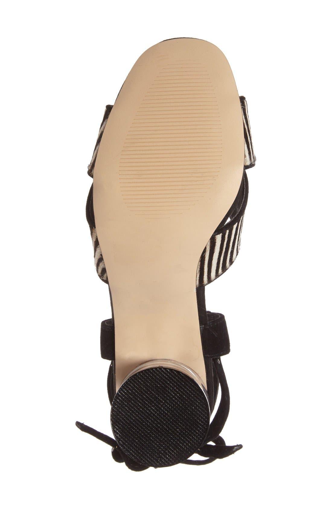 TOPSHOP,                             'Raffle' Ankle Strap Sandal,                             Alternate thumbnail 4, color,                             001