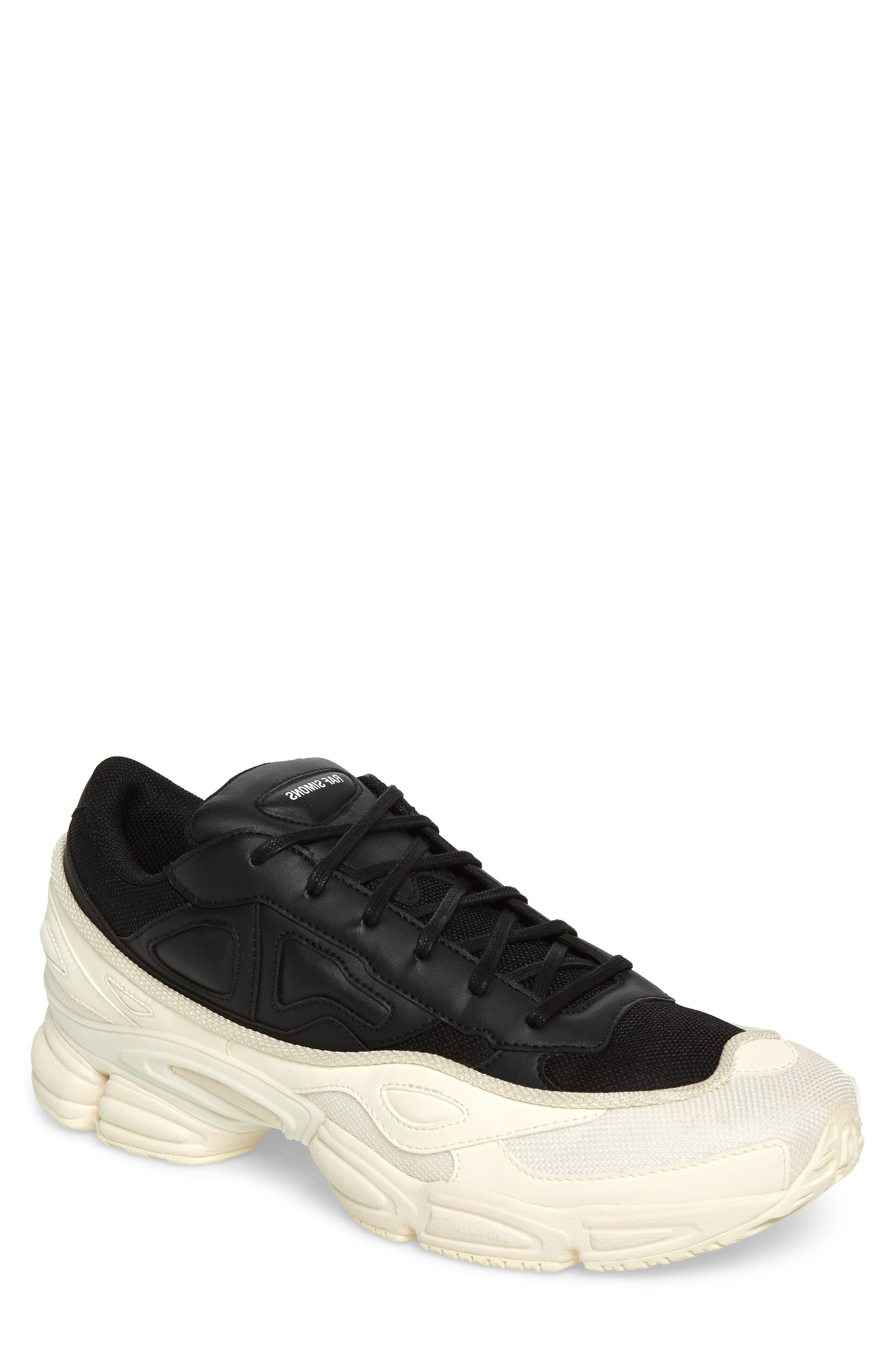 adidas by Raf Simons Ozweego III Sneaker,                             Main thumbnail 1, color,                             CREAM WHITE/ CORE BLACK