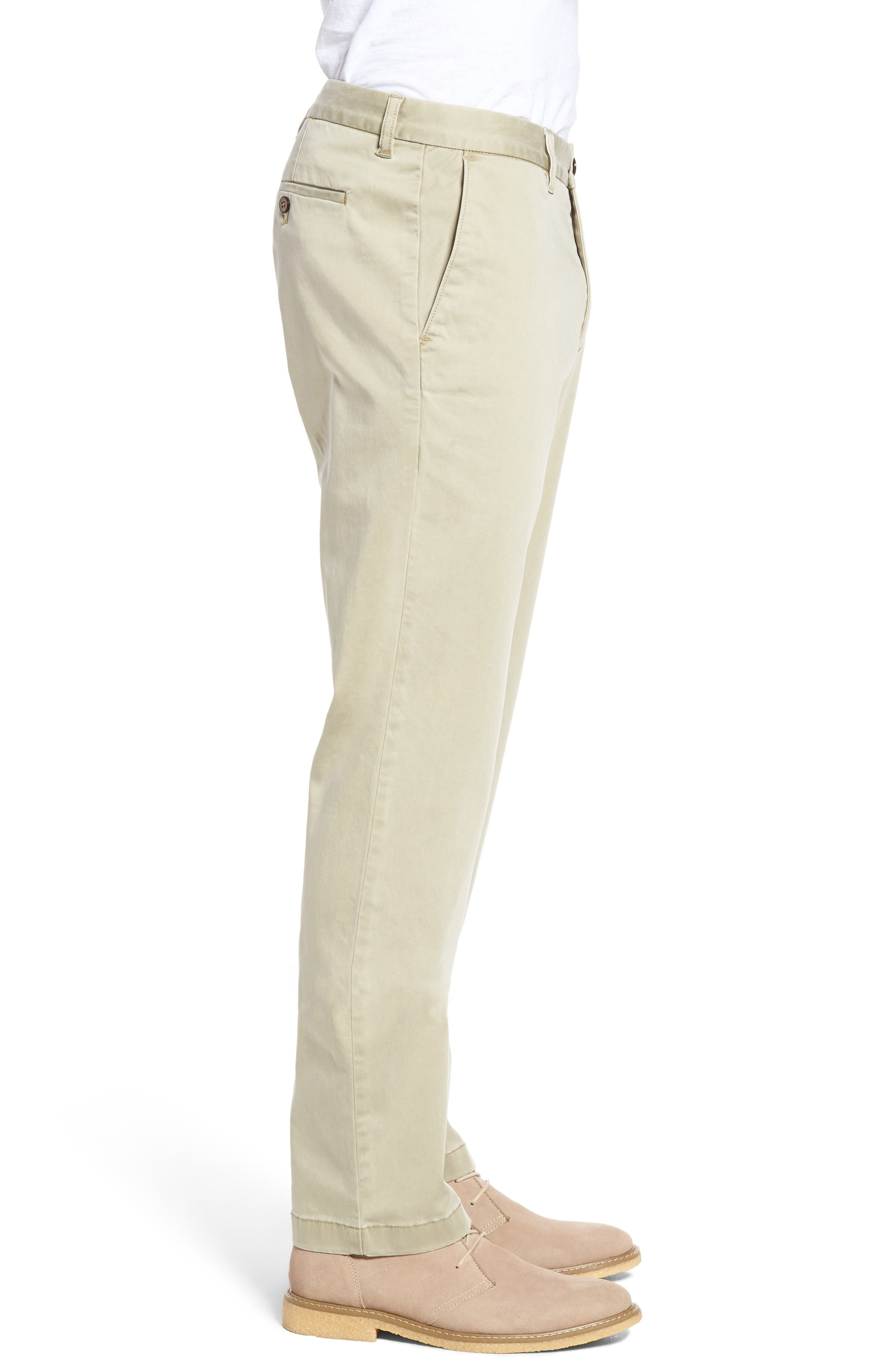 Boracay Flat Front Pants,                             Alternate thumbnail 3, color,                             KHAKI