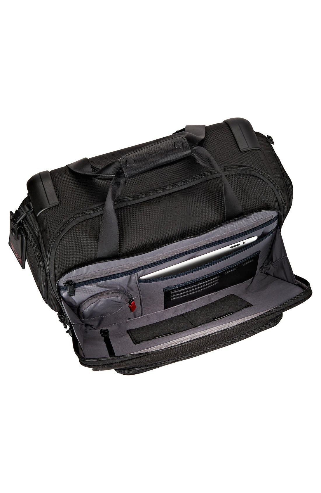 Alpha 2 20-Inch Wheeled Duffel Bag,                             Alternate thumbnail 3, color,                             BLACK