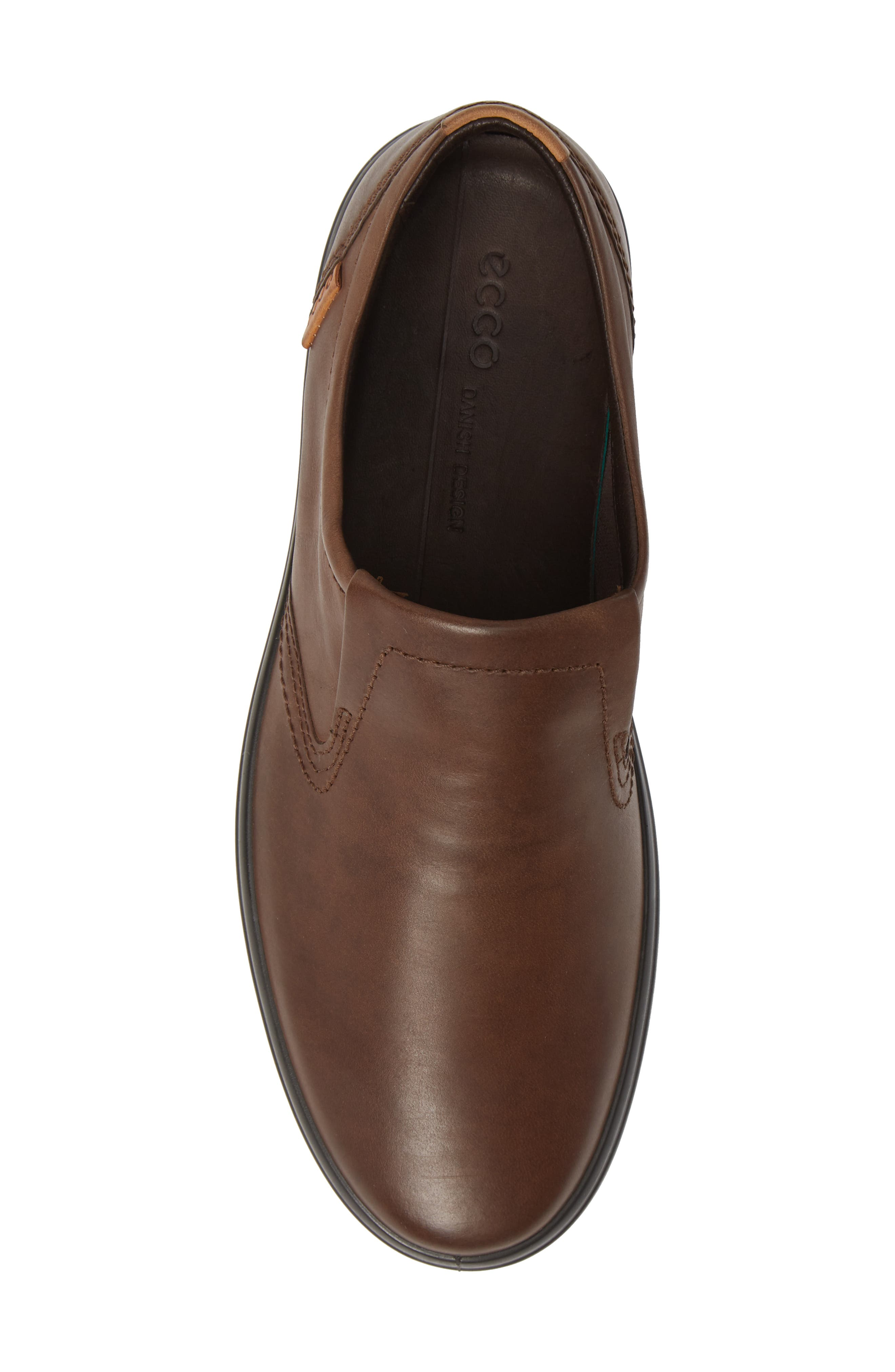 'Soft 7' Slip-On,                             Alternate thumbnail 5, color,                             BROWN LEATHER