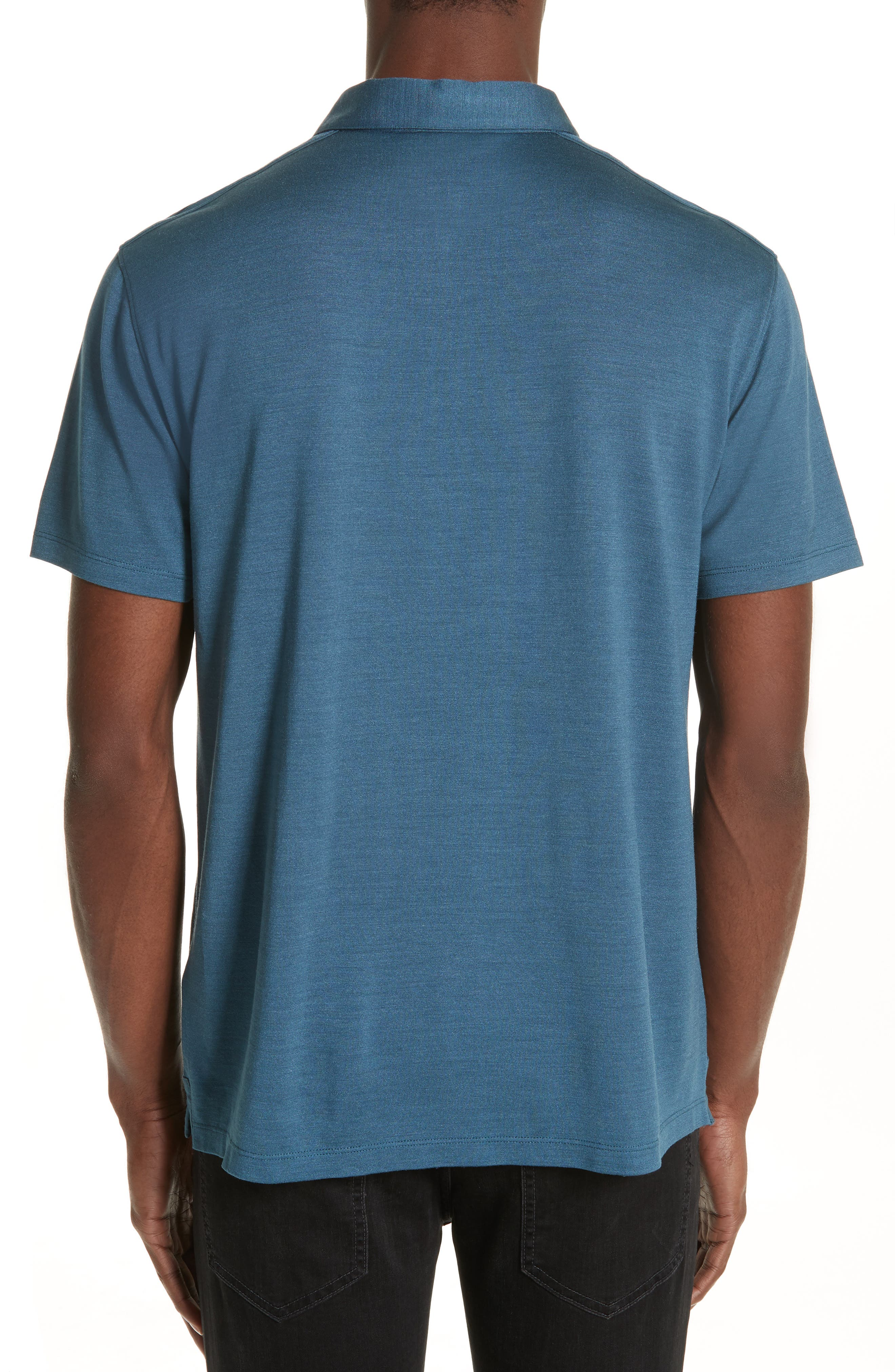 Hampton Jersey Polo,                             Alternate thumbnail 2, color,                             OCEAN BLUE