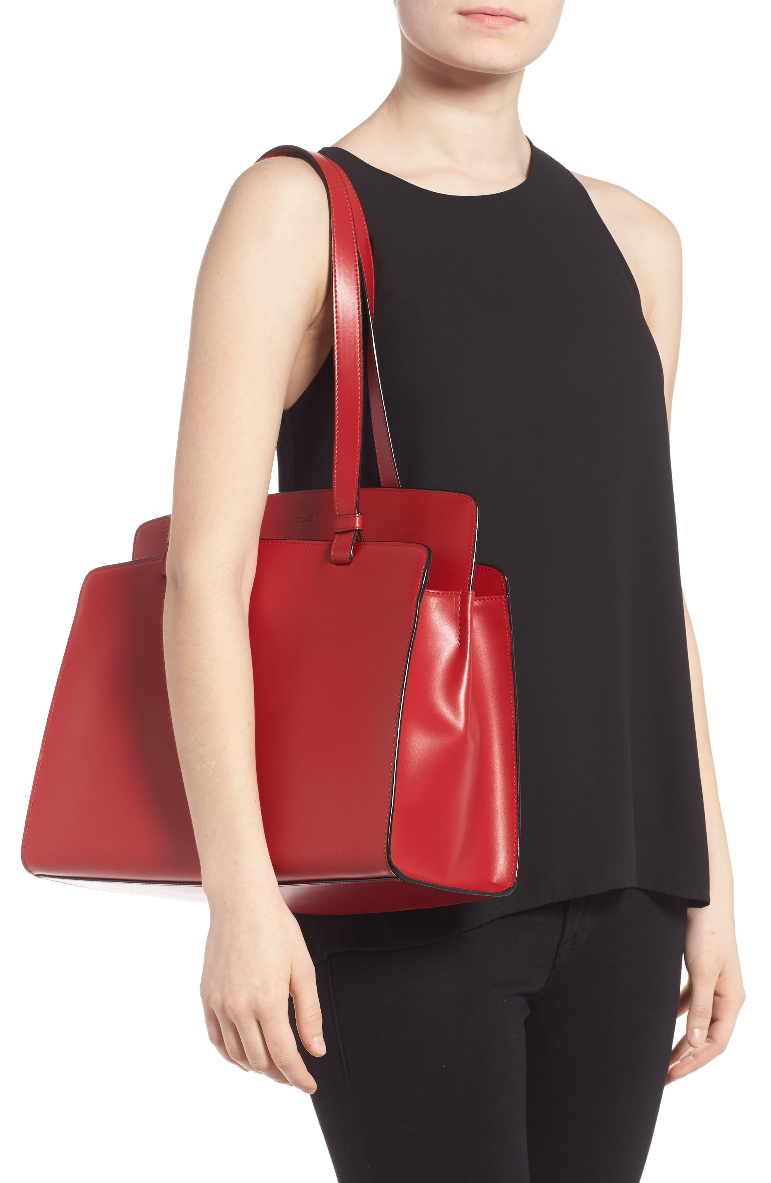Lodis Audrey Collection - Jana Leather Tote,                             Alternate thumbnail 6, color,