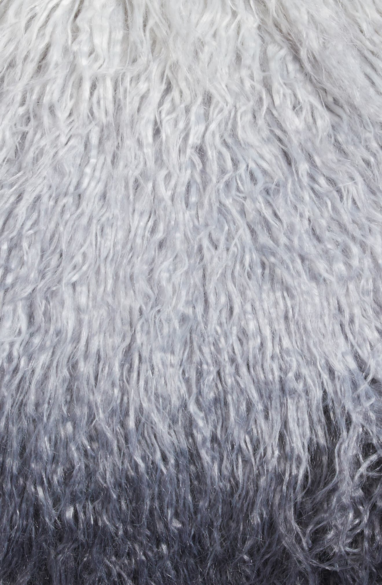 Ombré Faux Fur Flokati Accent Pillow,                             Alternate thumbnail 13, color,