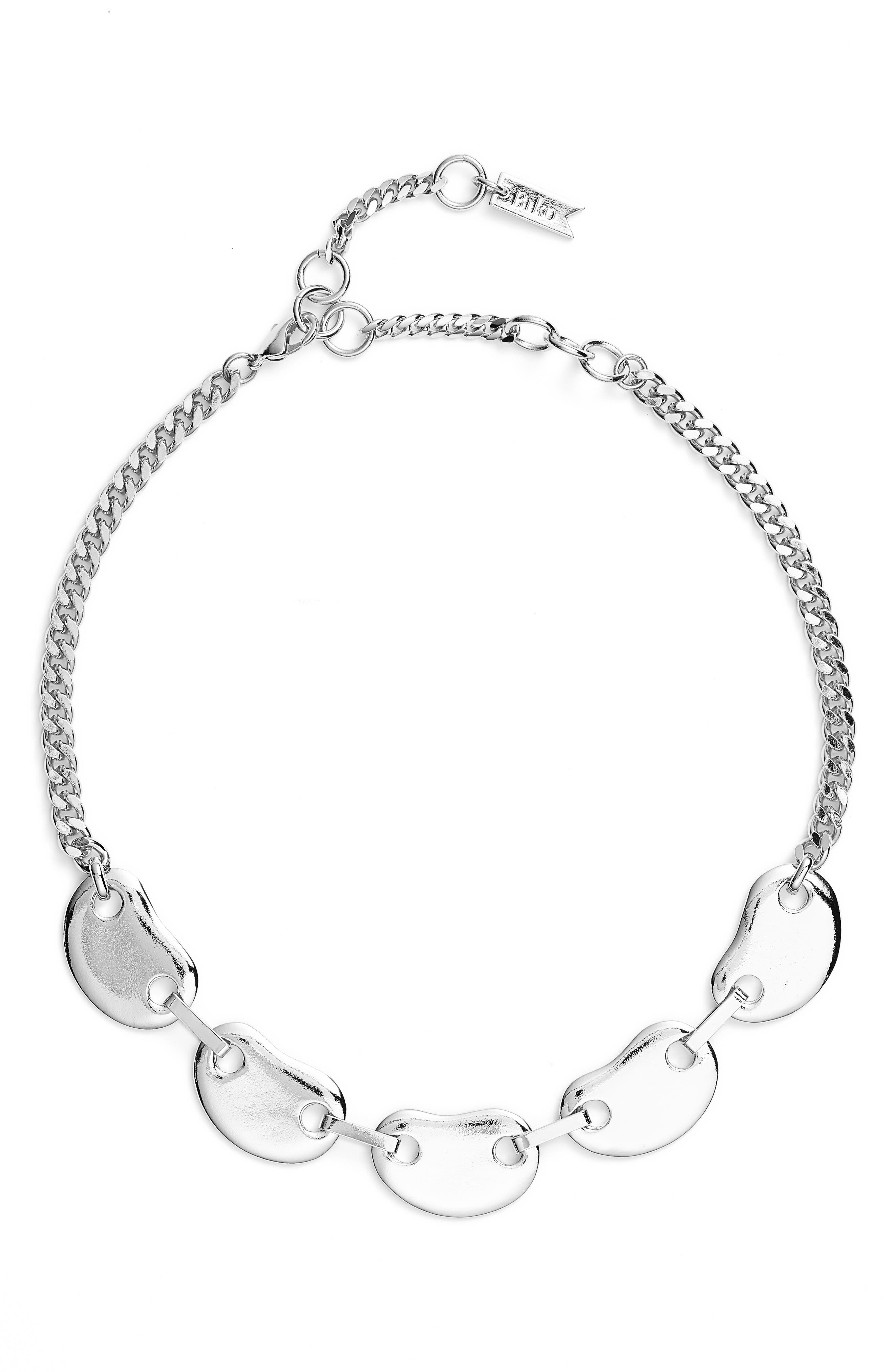 Amoeba Link Collar Necklace,                             Main thumbnail 1, color,                             040