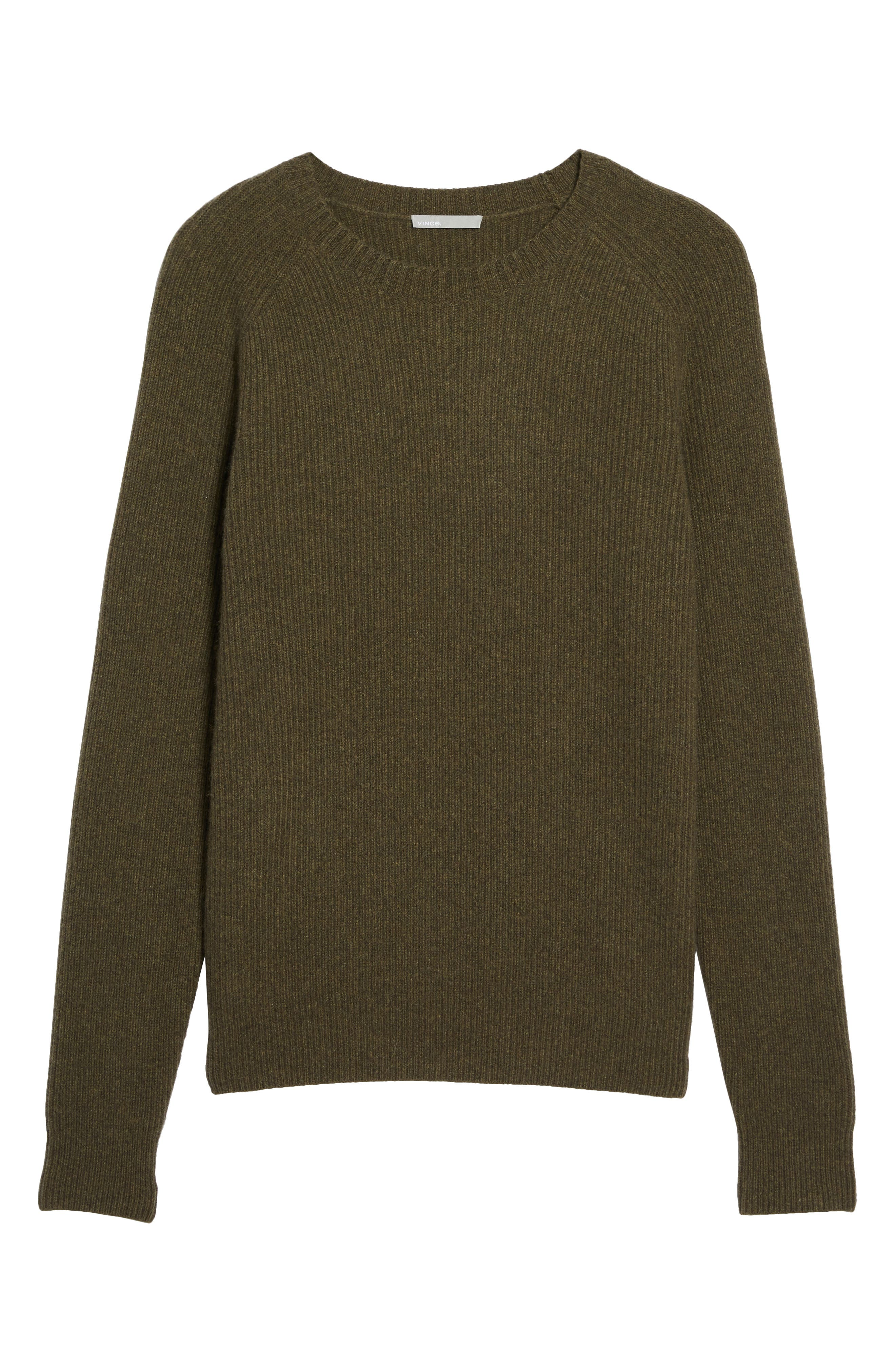 Ribbed Wool & Cashmere Raglan Sweater,                             Alternate thumbnail 22, color,
