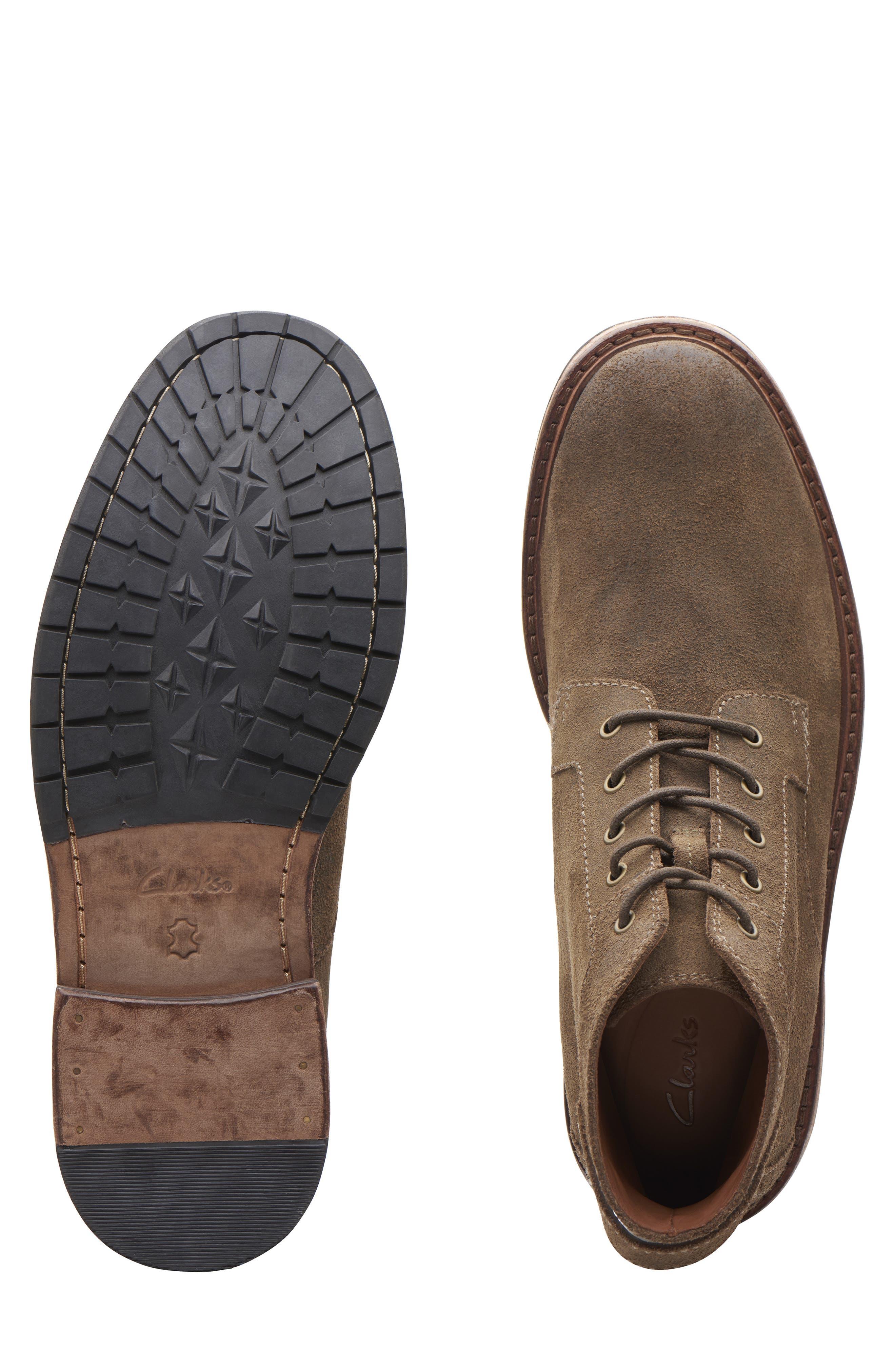Clarkdale Bud Plain Toe Boot,                             Alternate thumbnail 7, color,                             KHAKI SUEDE