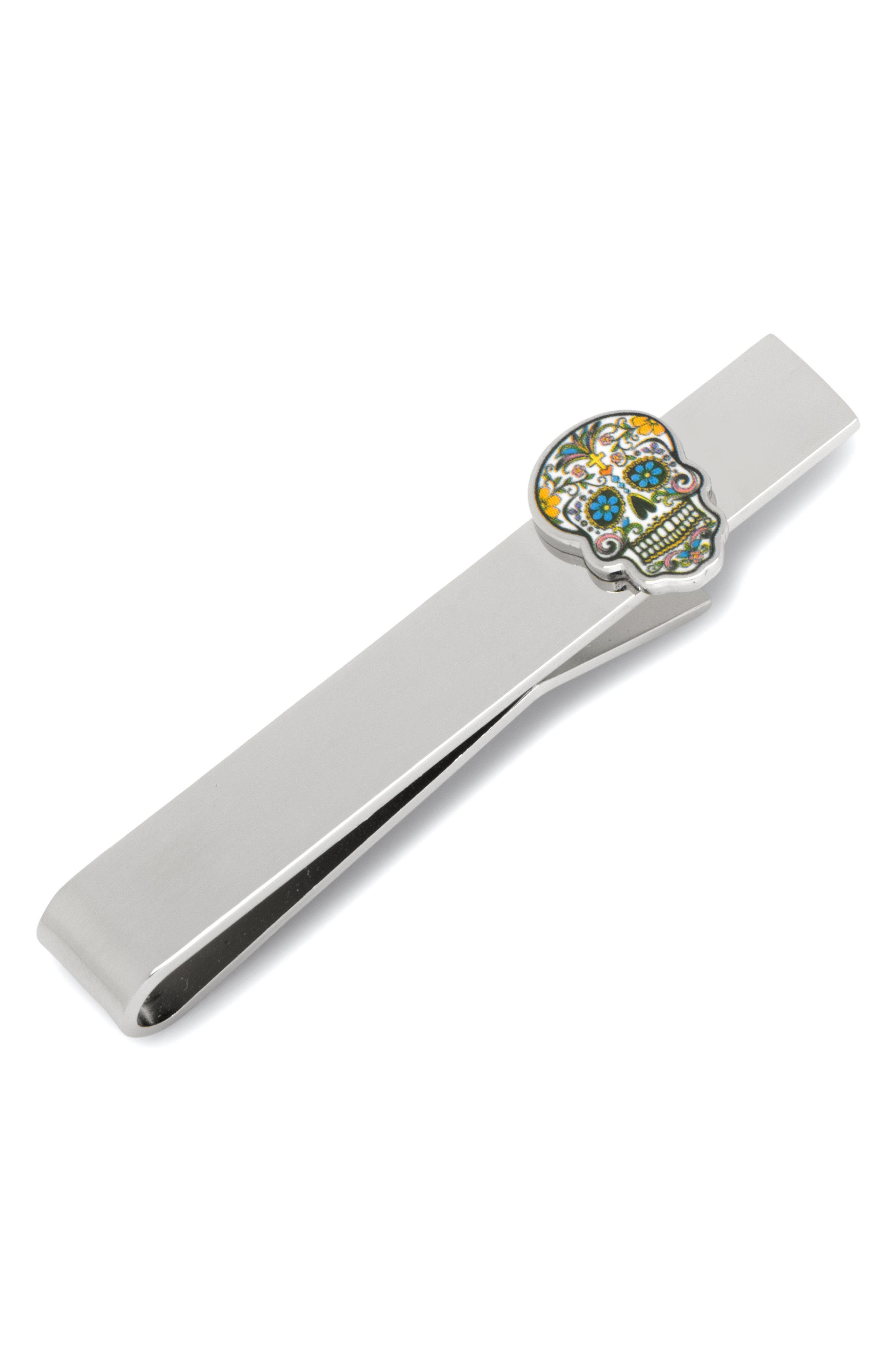 Cufflinks Inc. Day of the Dead Tie Bar,                             Main thumbnail 1, color,                             MULTI