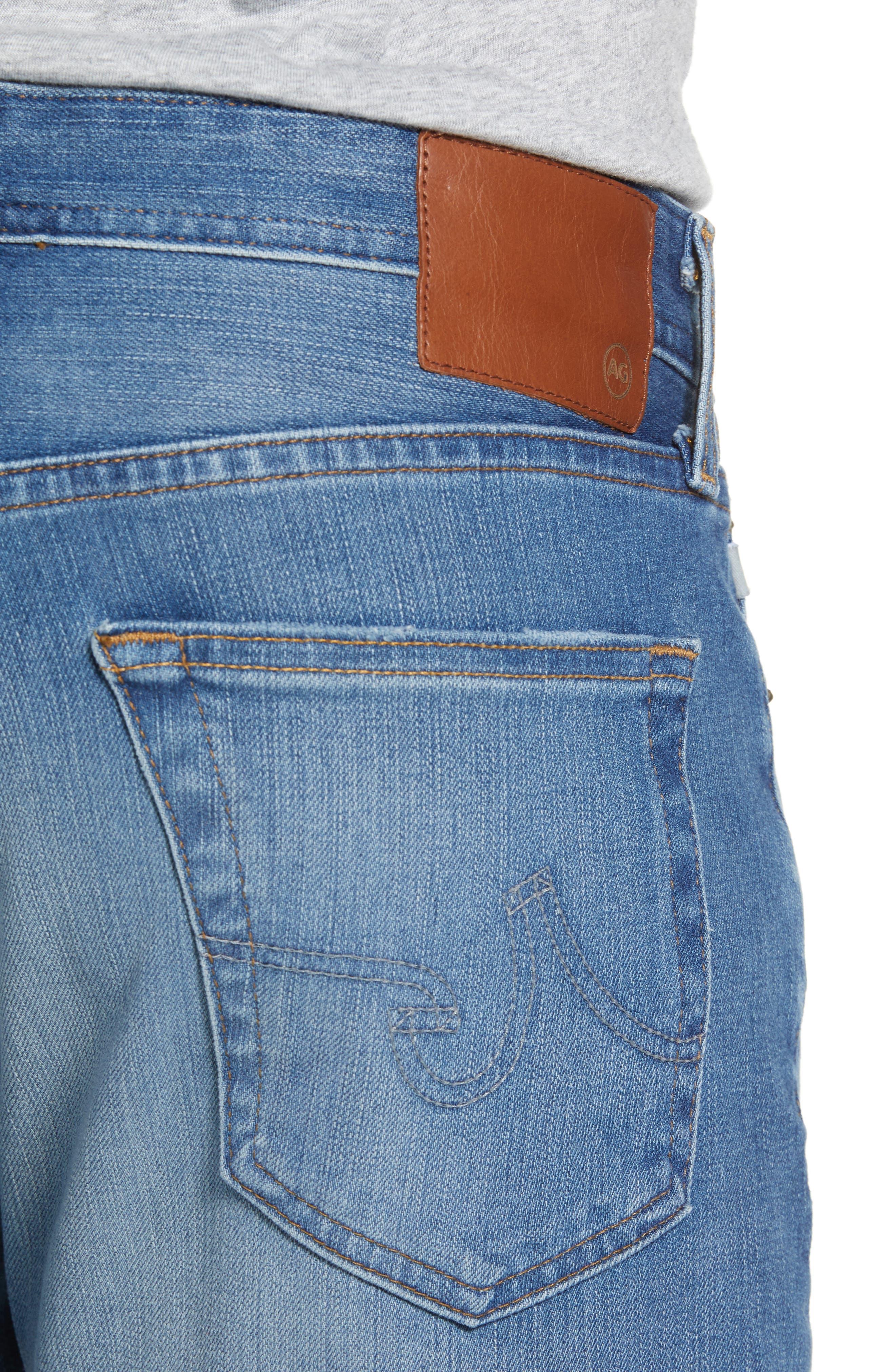 Everett Slim Straight Leg Jeans,                             Alternate thumbnail 4, color,                             487