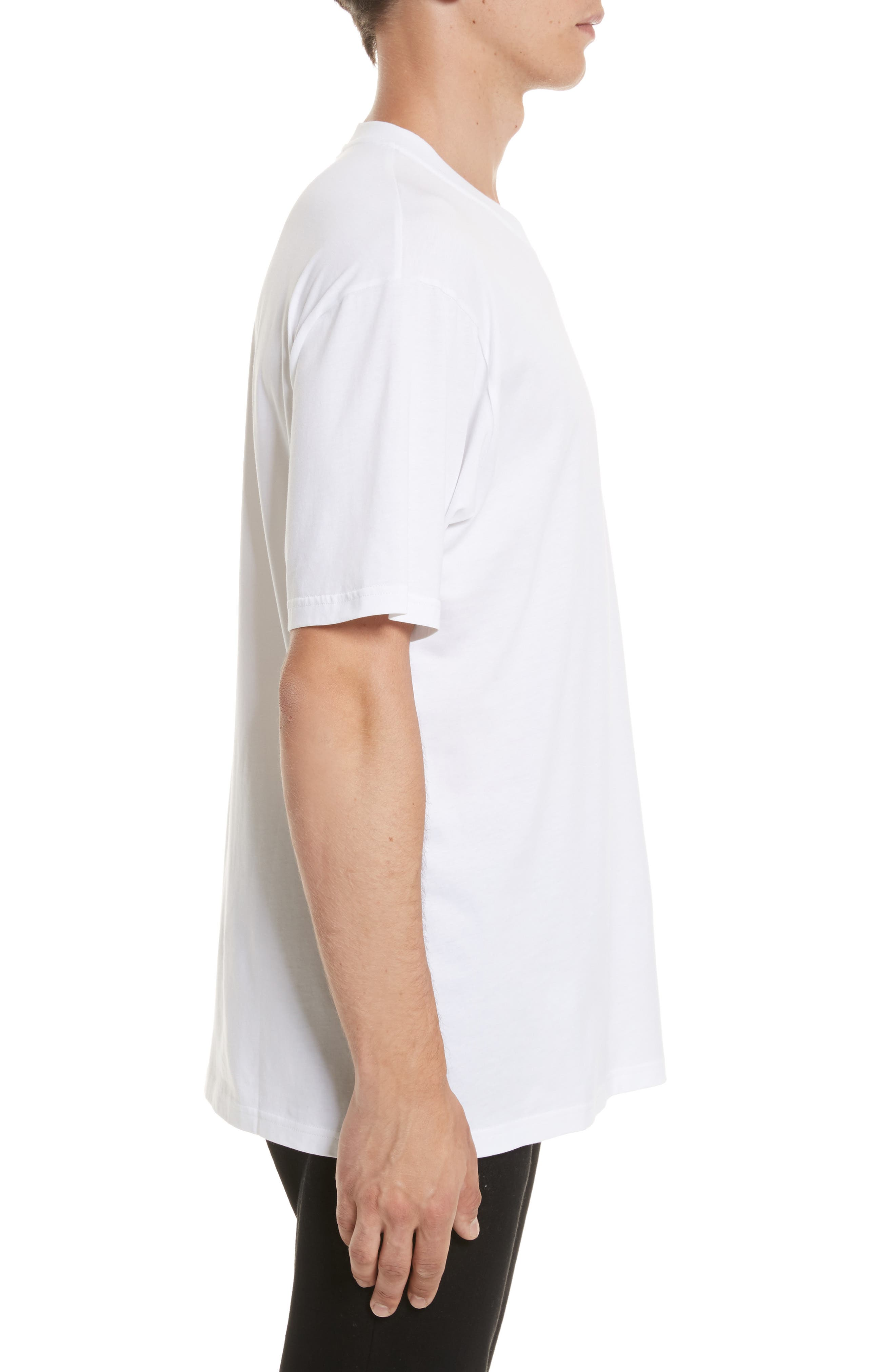VERSUS by Versace Embroidered Amore Please Pocket T-Shirt,                             Alternate thumbnail 3, color,