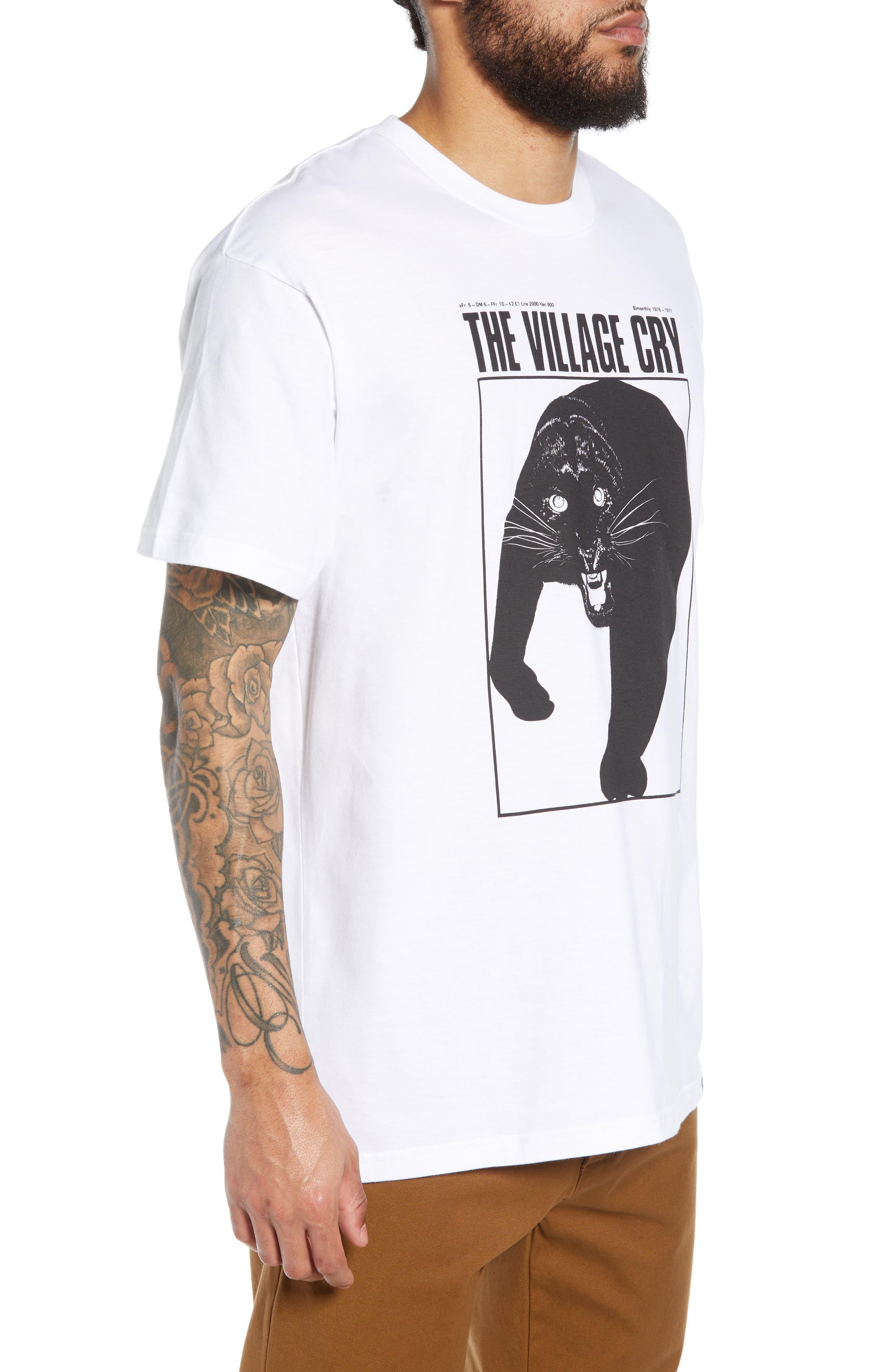 Panther Graphic T-Shirt,                             Alternate thumbnail 3, color,                             WHITE / BLACK