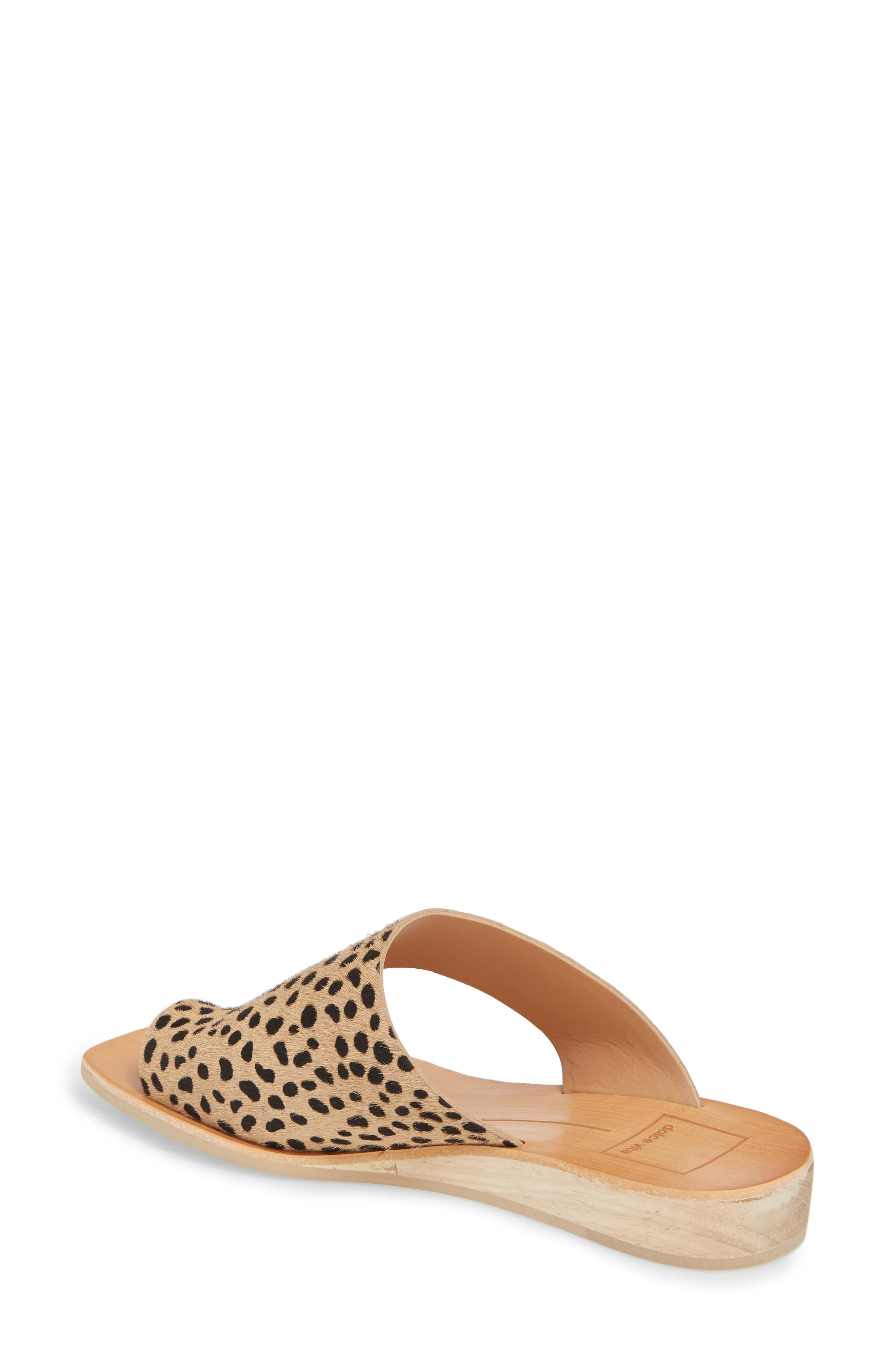 Hazle Genuine Calf Hair Sandal,                             Alternate thumbnail 6, color,