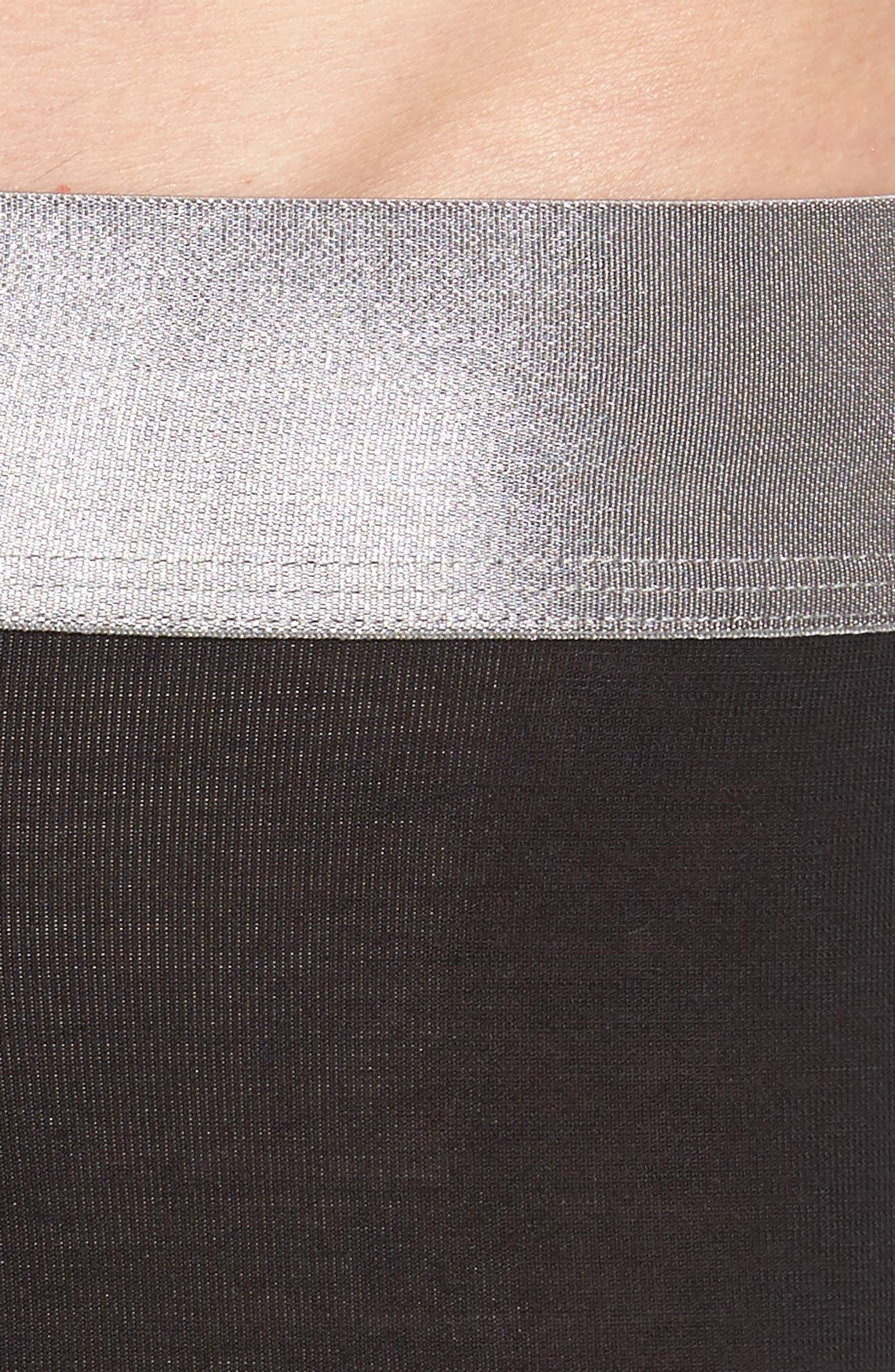 Second Skin Titanium Trunks,                             Alternate thumbnail 4, color,                             BLACK