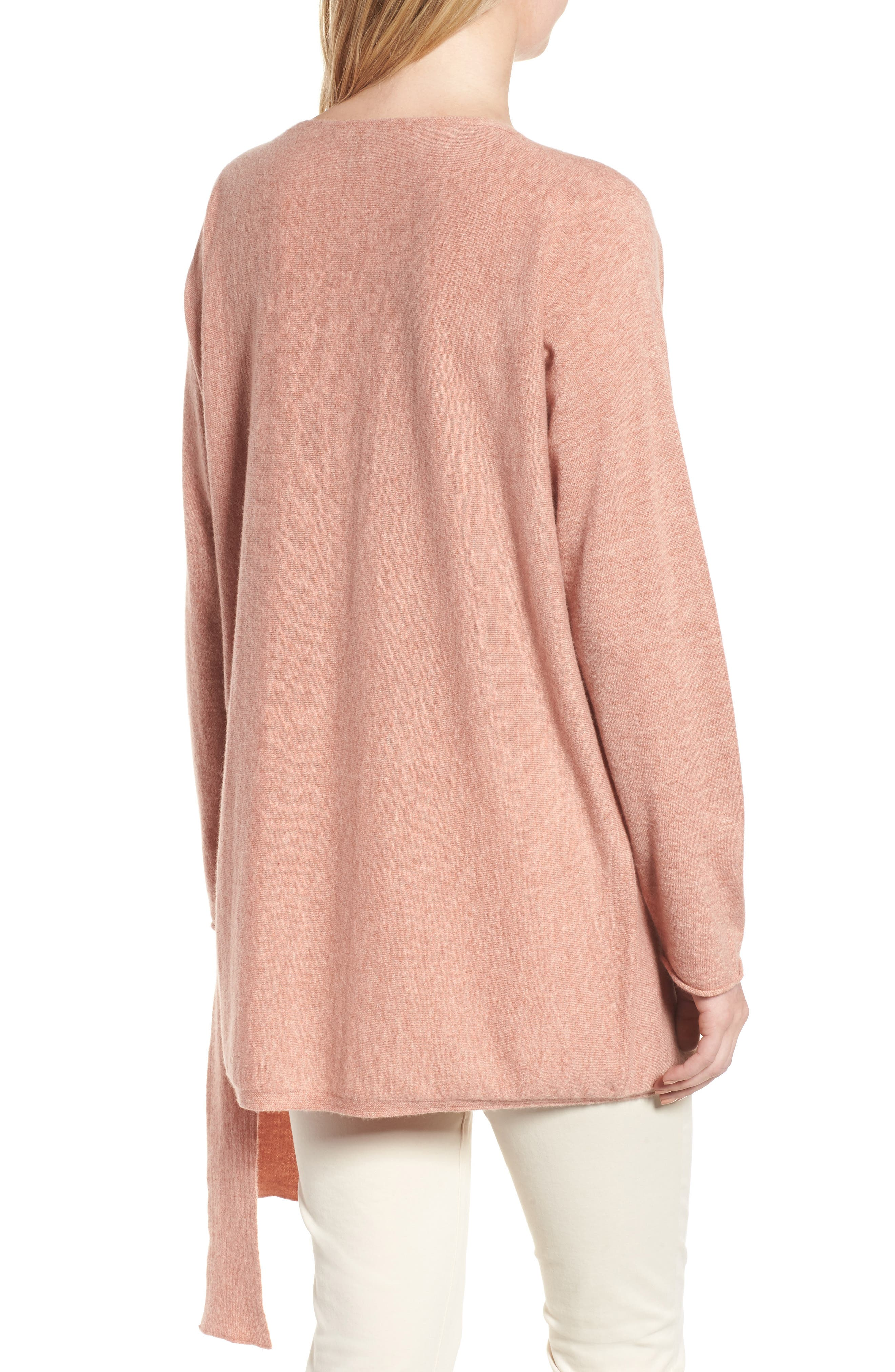 Cashmere Tunic Sweater,                             Alternate thumbnail 4, color,