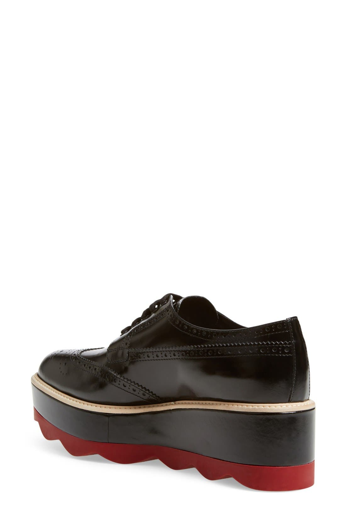 Scalloped Platform Oxford,                             Alternate thumbnail 16, color,