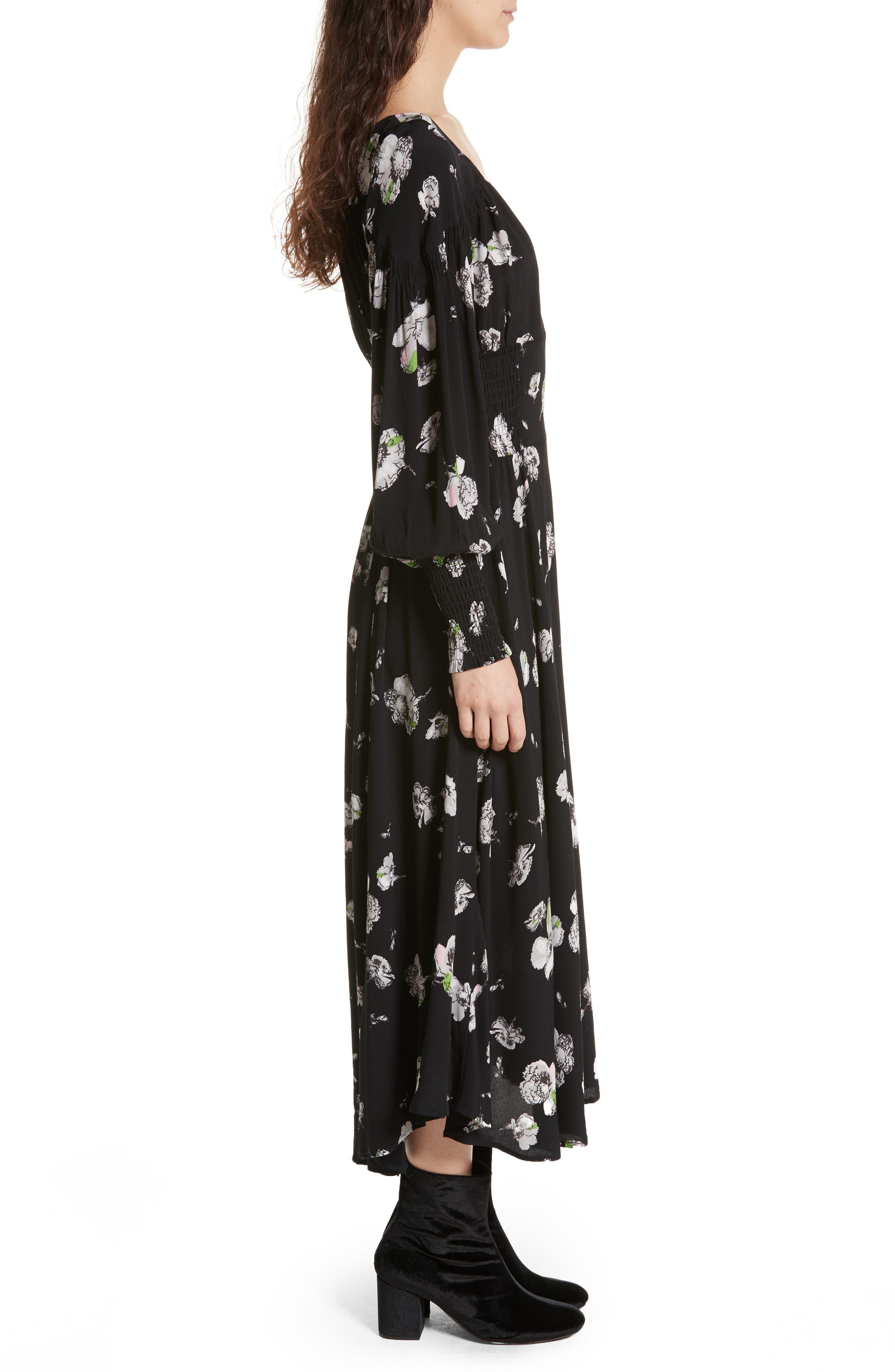 So Sweetly Midi Dress,                             Alternate thumbnail 3, color,                             001