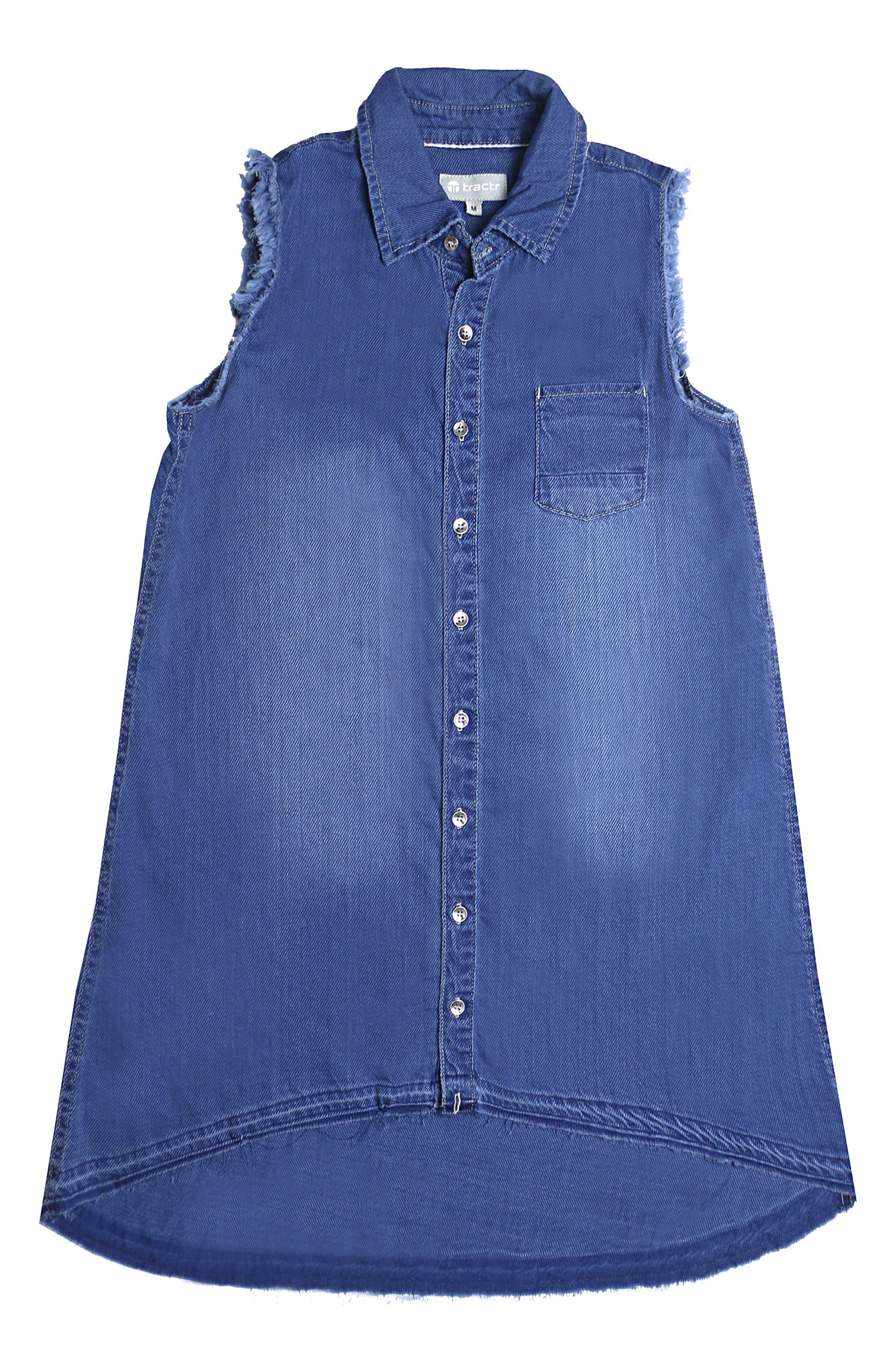 Chambray Shirt Dress,                         Main,                         color, 407