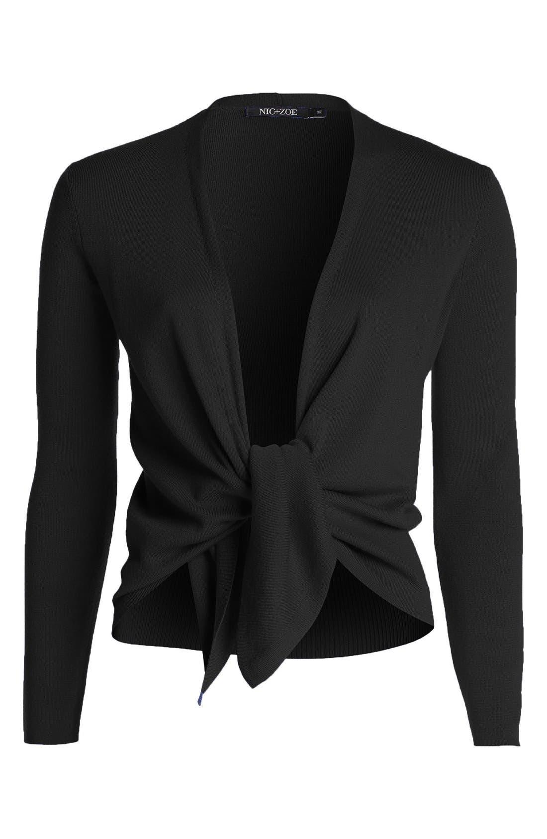 Four-Way Convertible Cardigan,                             Alternate thumbnail 6, color,                             BLACK ONYX