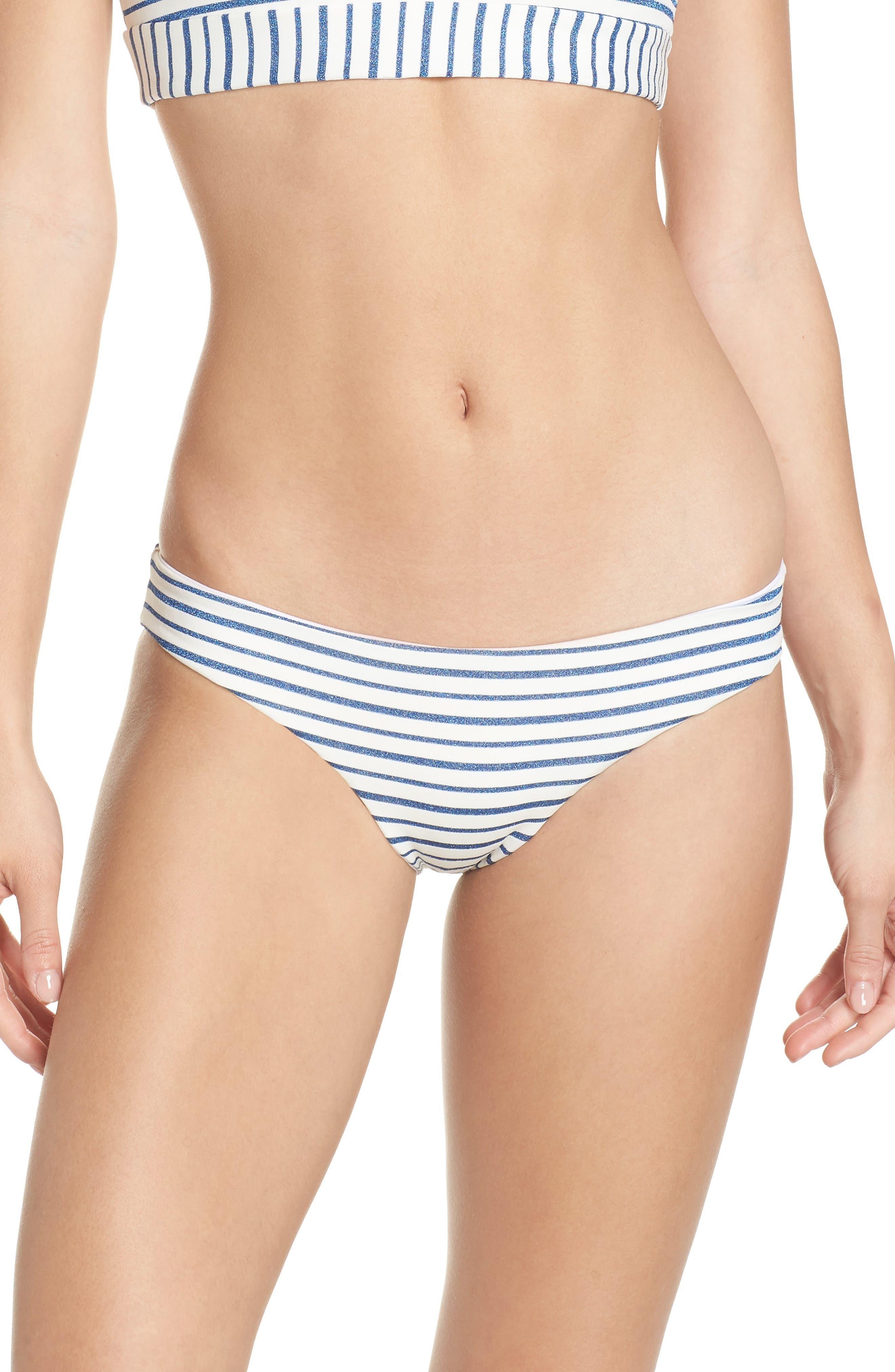 Sandy Stripe Bikini Bottoms,                         Main,                         color, ROYAL