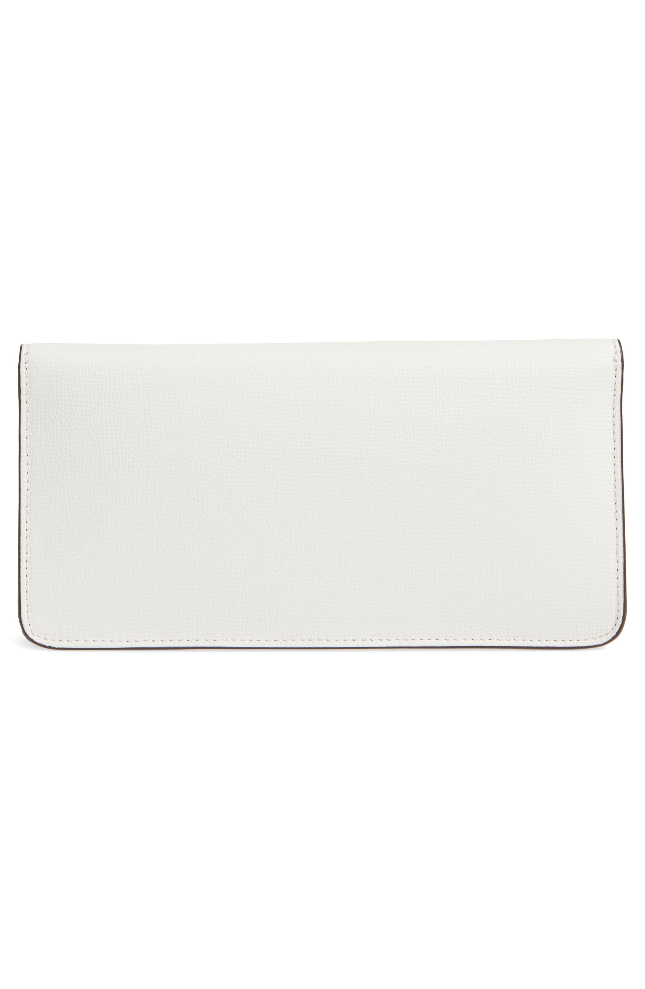 Kira Leather Envelope Clutch,                             Alternate thumbnail 3, color,                             BIRCH