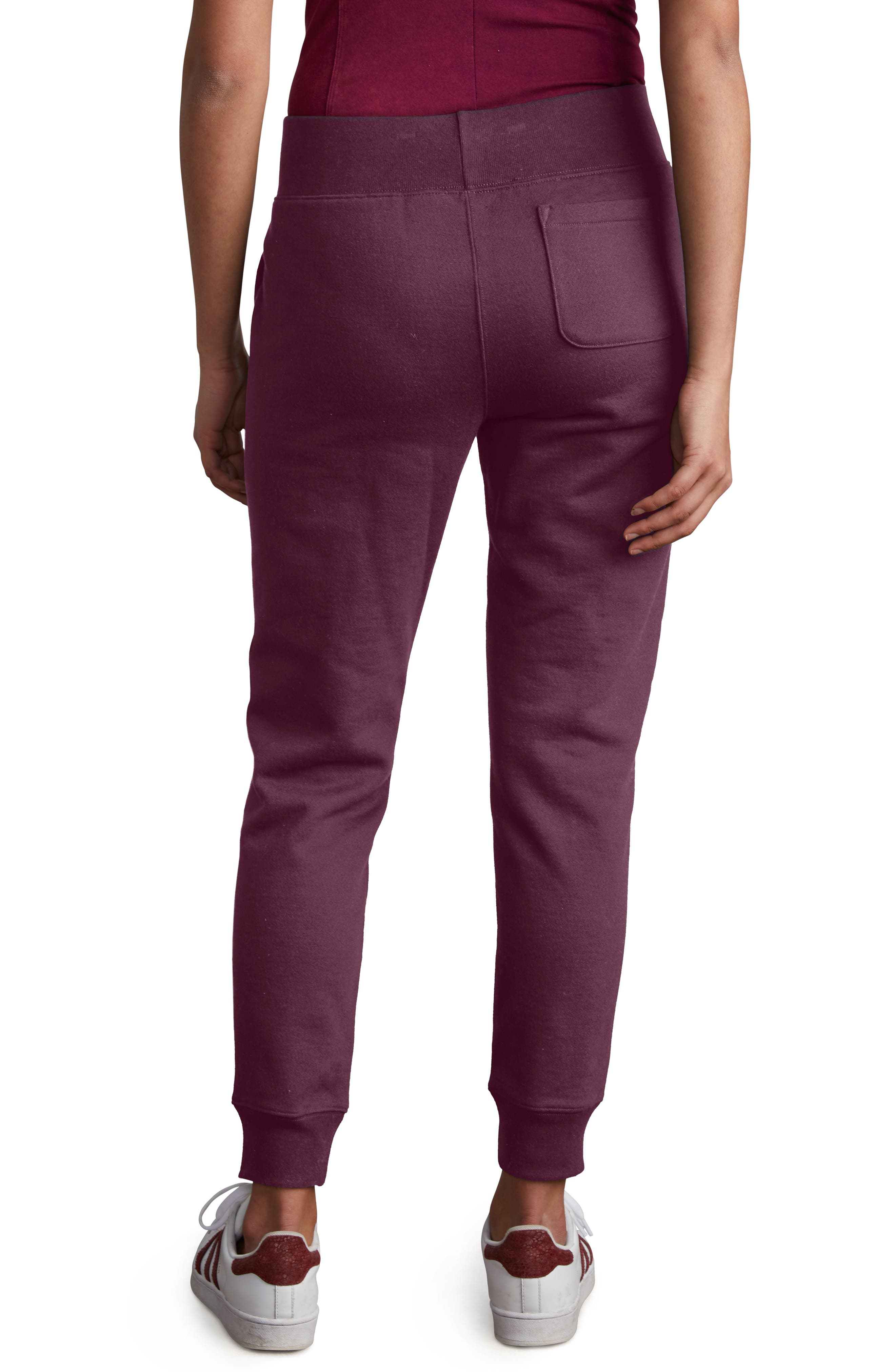 CHAMPION,                             Reverse Weave Jogger Pants,                             Alternate thumbnail 2, color,                             DARK BERRY PURPLE