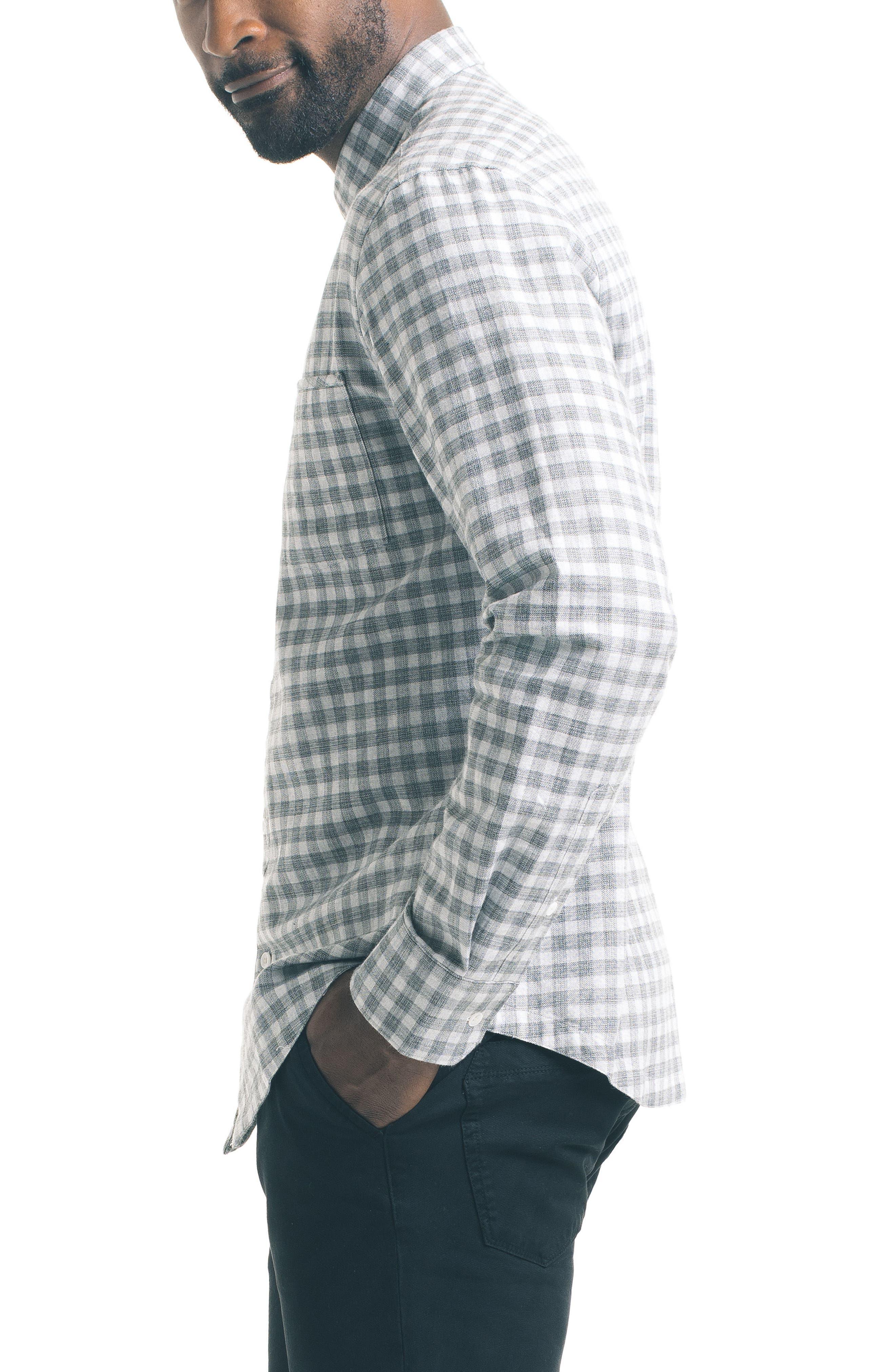 Slim Fit Check Sport Shirt,                             Alternate thumbnail 3, color,                             050