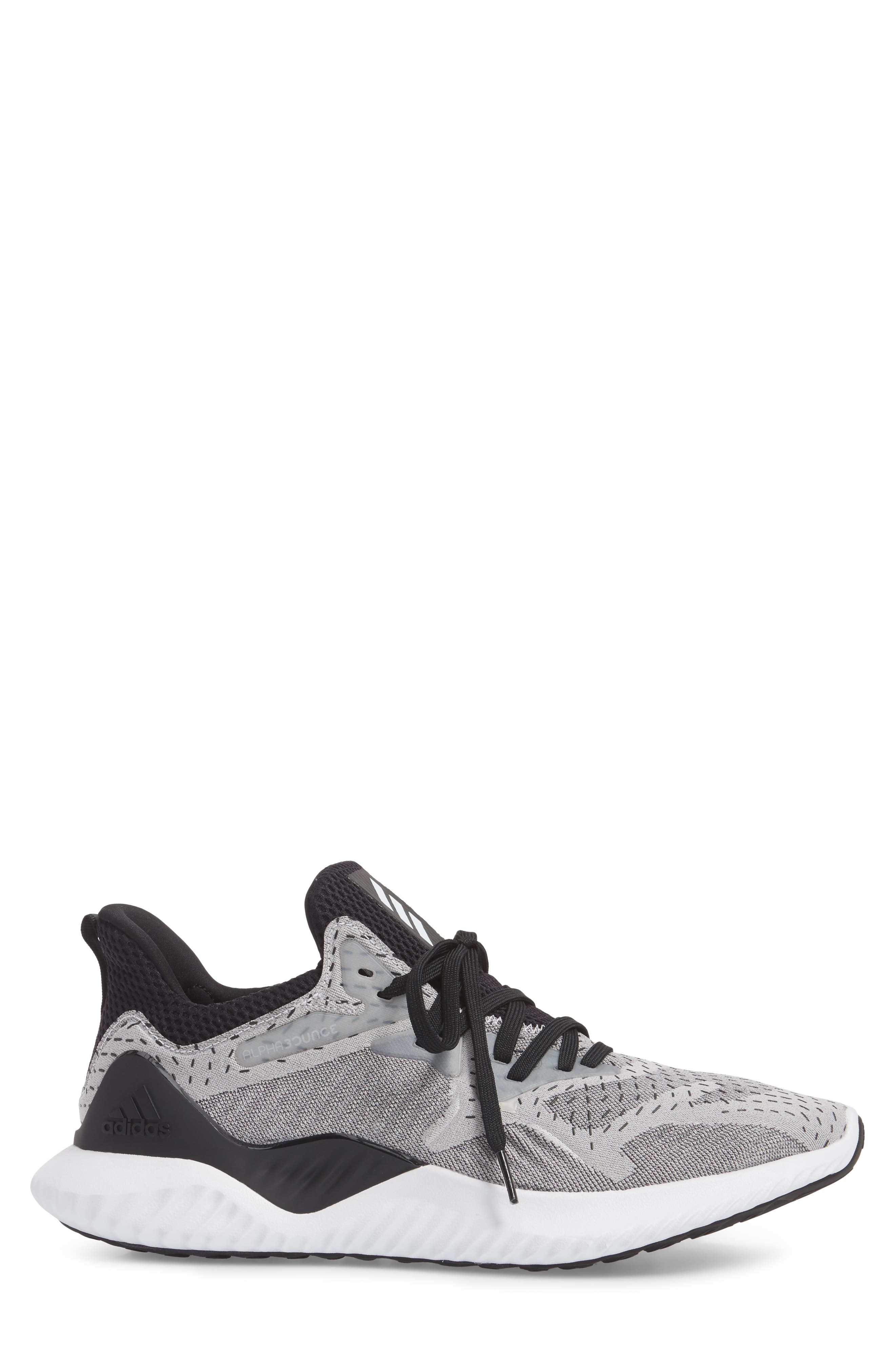 AlphaBounce Beyond Knit Running Shoe,                             Alternate thumbnail 3, color,                             100