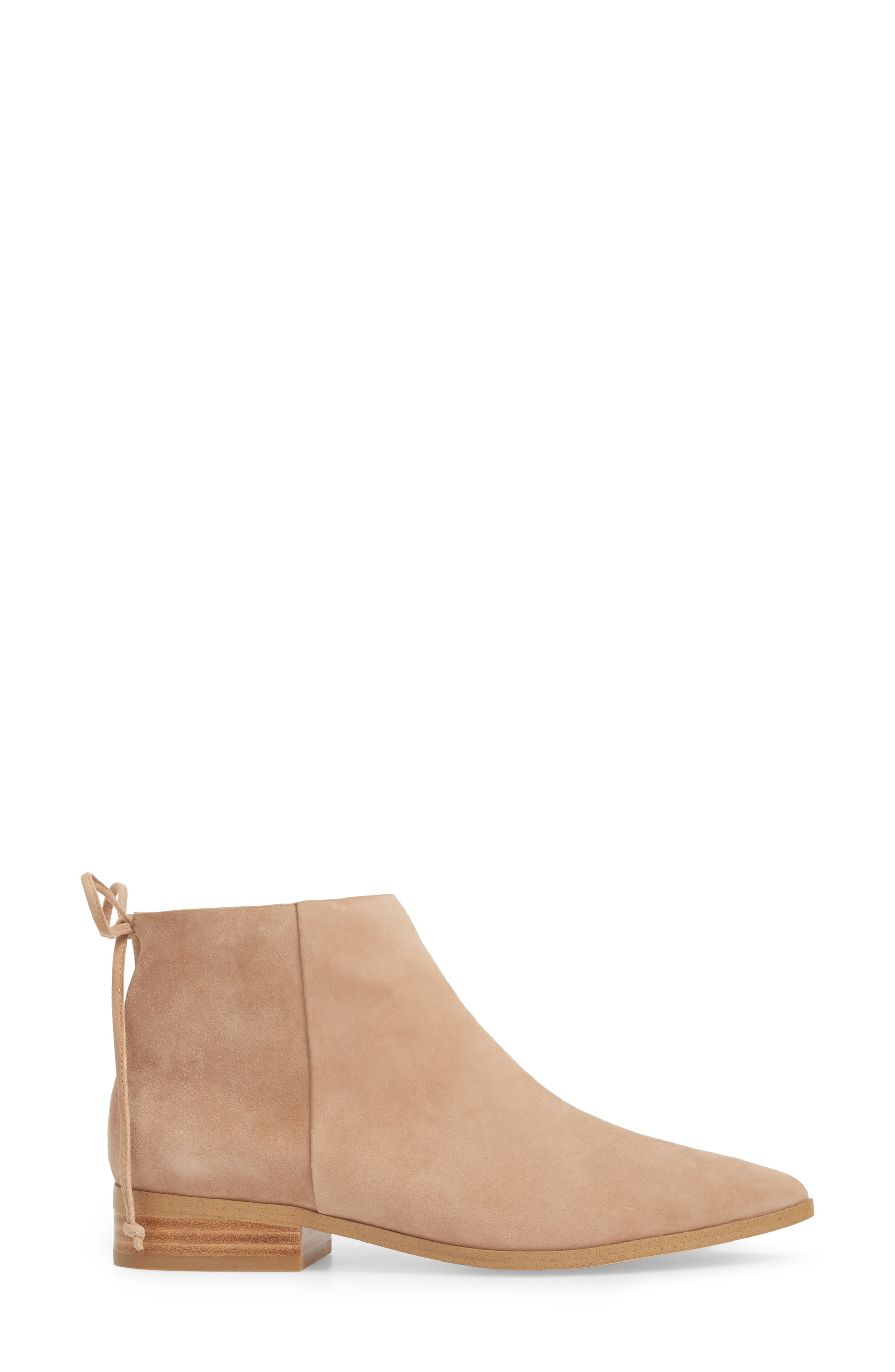 Niva Bootie,                             Alternate thumbnail 3, color,                             DRIFTWOOD SUEDE