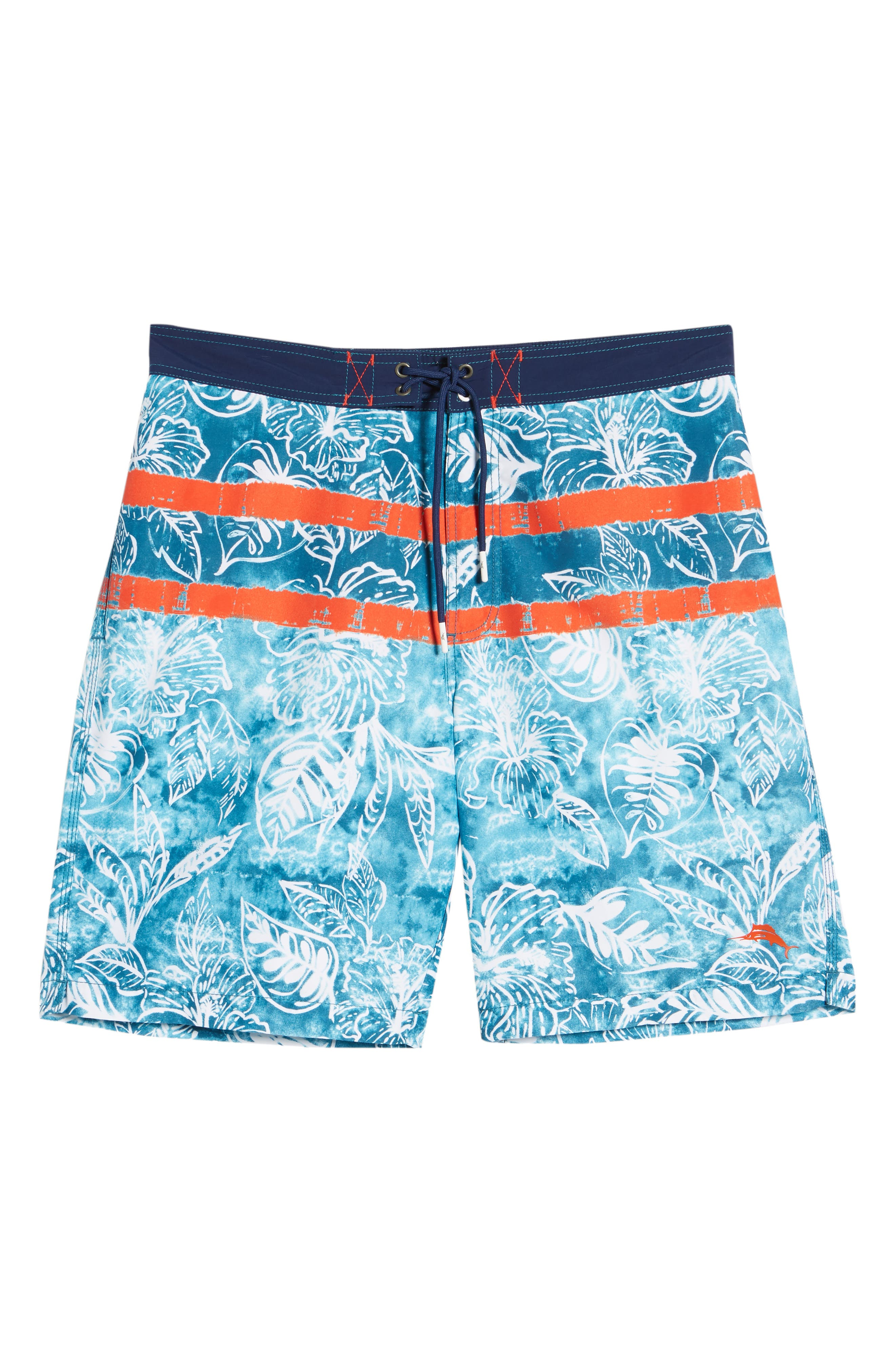 Baja Mar Batik Print Board Shorts,                             Alternate thumbnail 6, color,                             RIVIERA AZURE