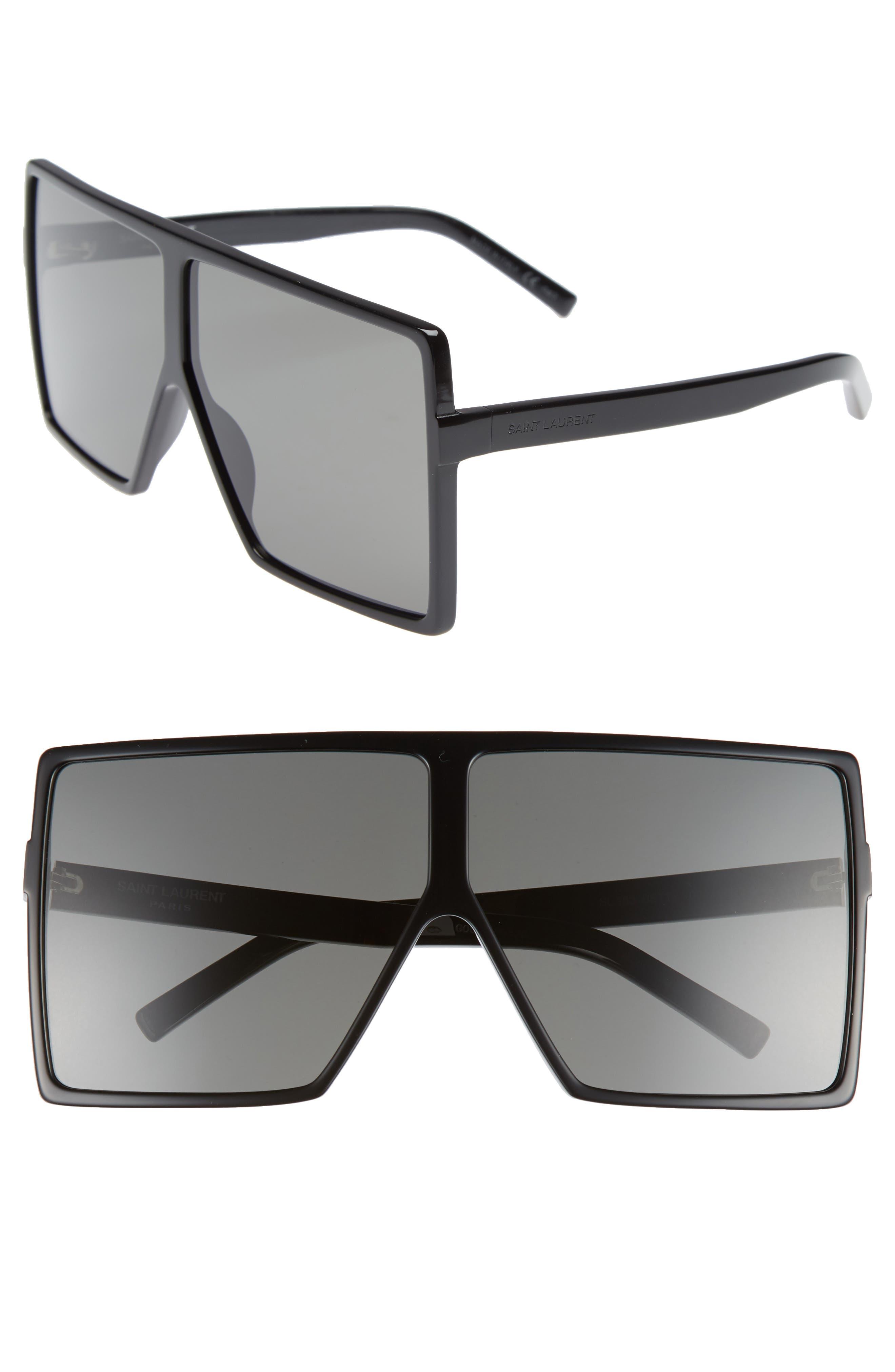 68mm Oversize Square Sunglasses,                             Main thumbnail 1, color,                             004