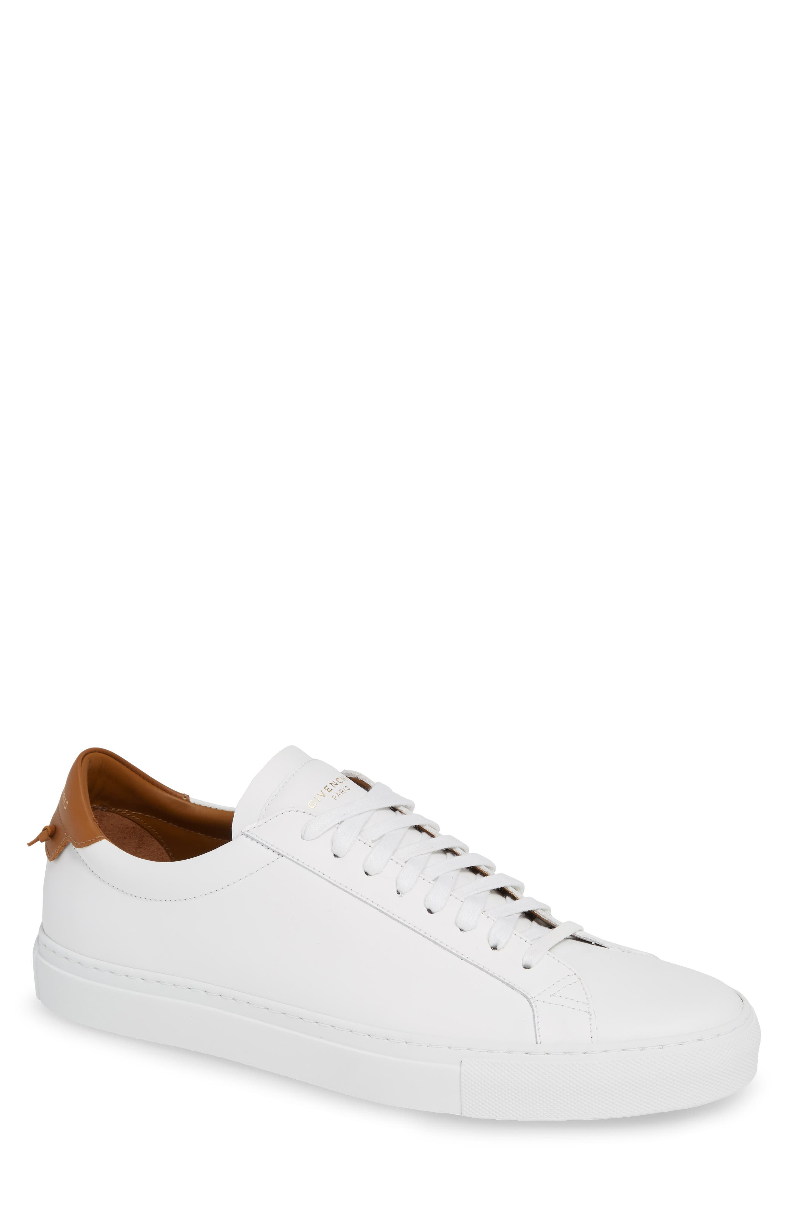 GIVENCHY,                             Urban Knots Low Sneaker,                             Main thumbnail 1, color,                             WHITE/ BEIGE