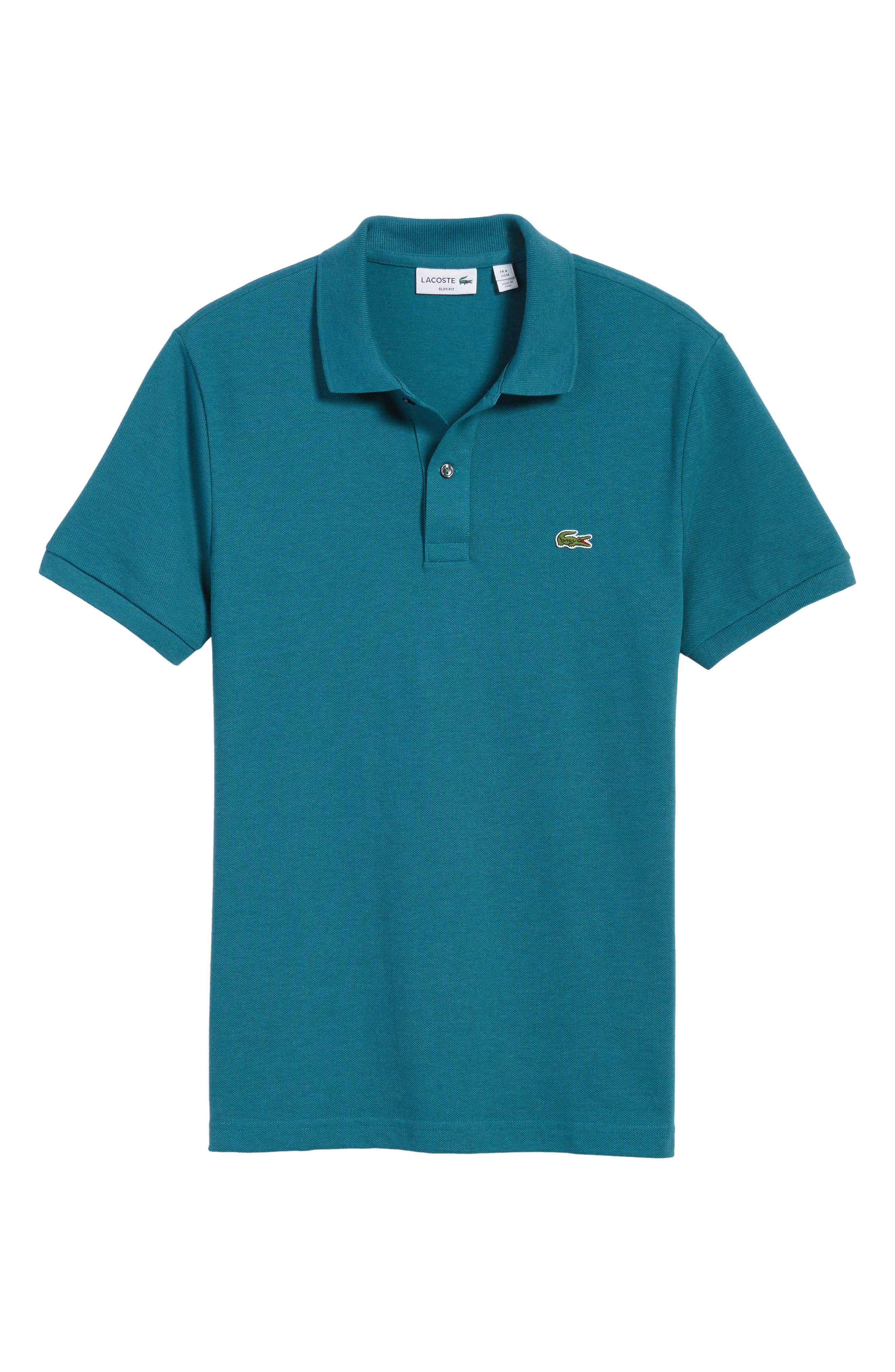 Slim Fit Piqué Polo,                             Alternate thumbnail 63, color,