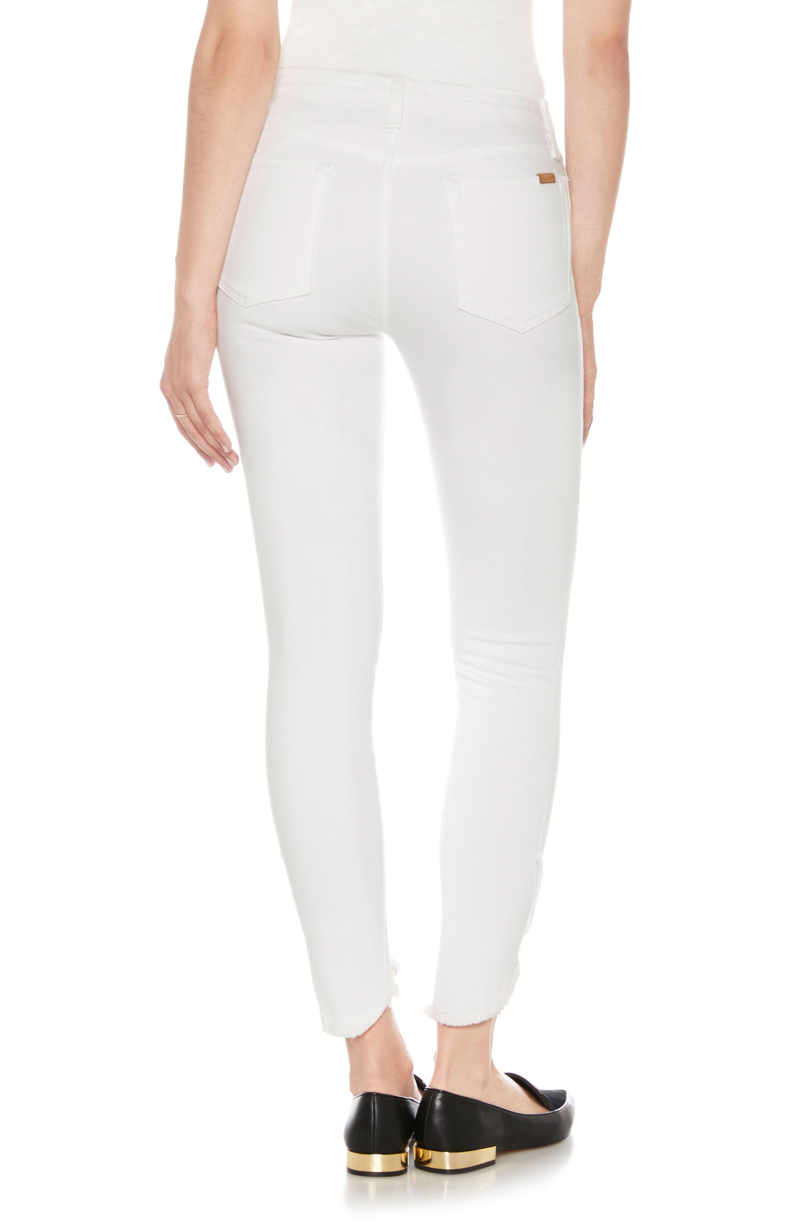 Flawless - Charlie High Waist Tulip Hem Ankle Skinny Jeans,                             Alternate thumbnail 2, color,                             120
