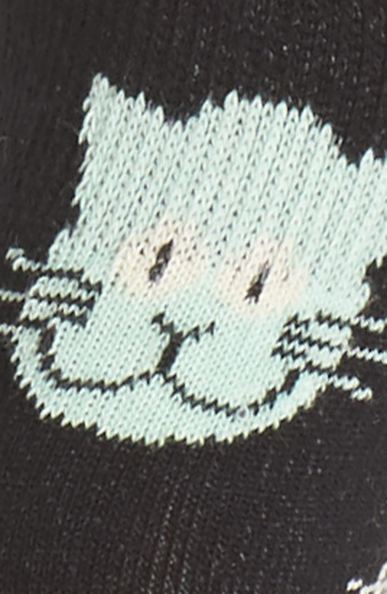 Cat Liner Socks,                             Alternate thumbnail 2, color,                             007